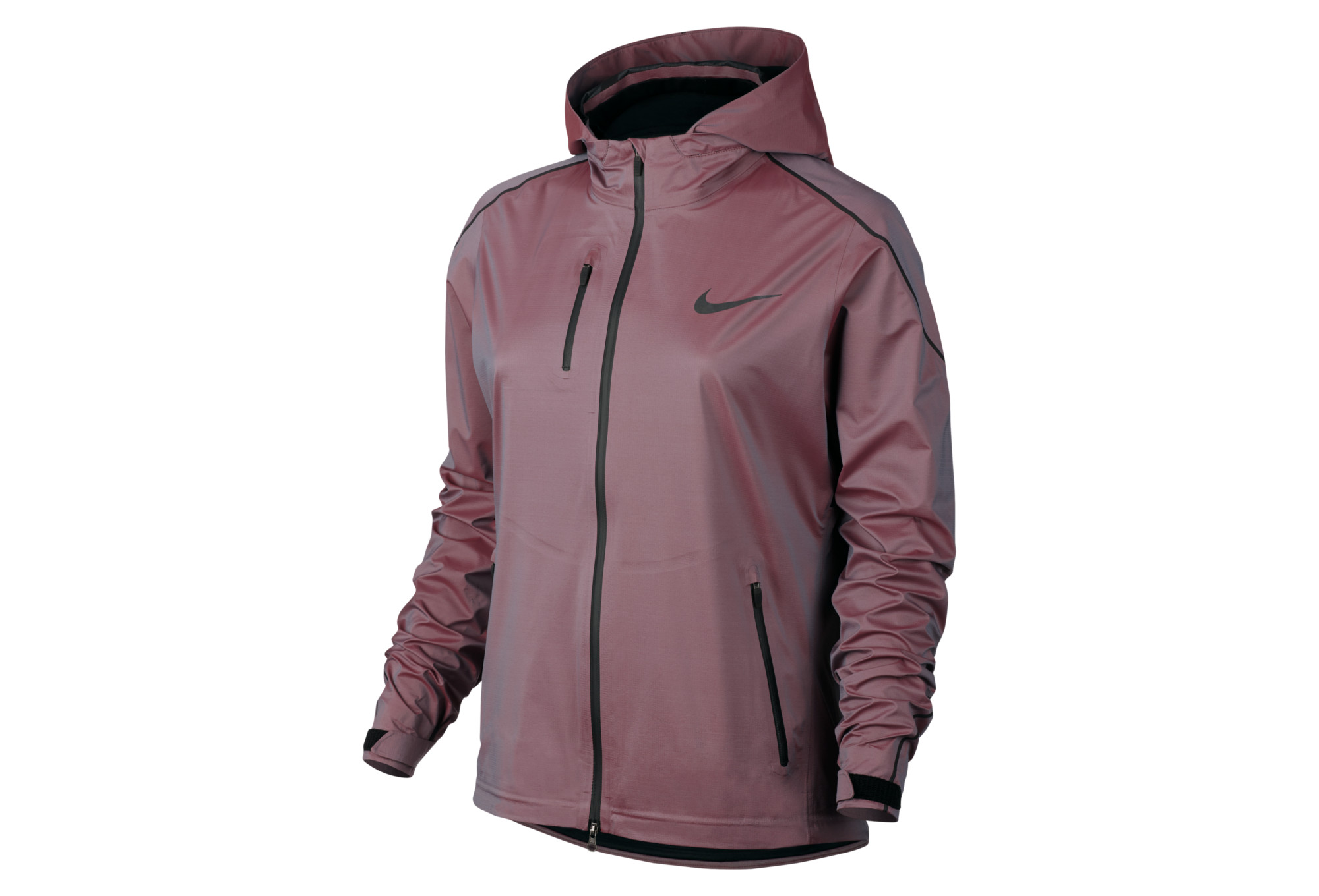 veste imperm able femme nike hypershield bleu rose. Black Bedroom Furniture Sets. Home Design Ideas