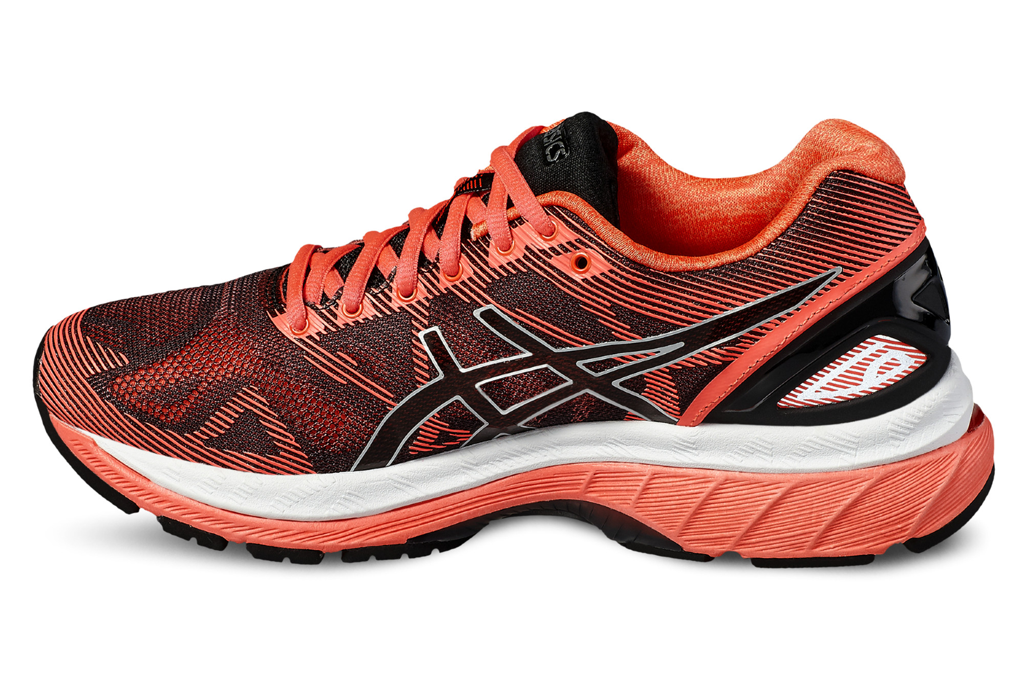 chaussures de running femme asics gel nimbus 19 orange. Black Bedroom Furniture Sets. Home Design Ideas