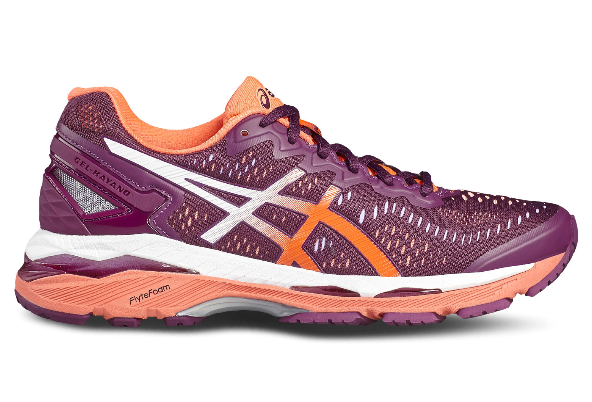 De Femme Running 23 Chaussures Kayano Orange Violet Asics Gel FH1xxqwd