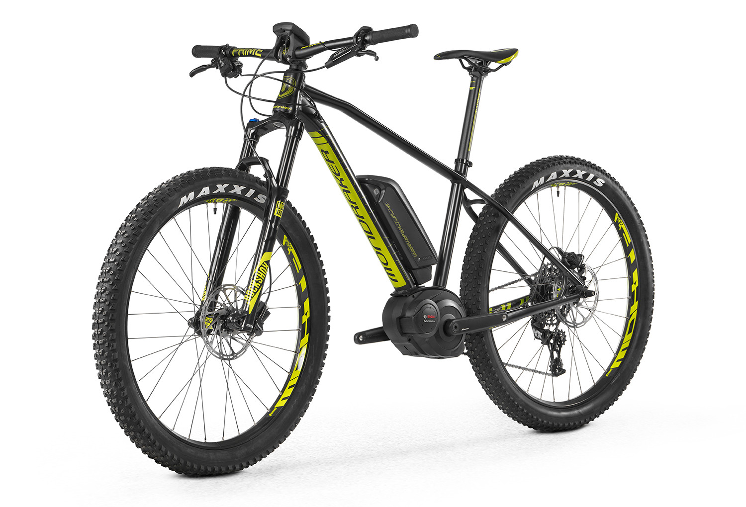 vtt electrique semi rigide mondraker e prime r bosch 500w sram nx 11v noir jaune. Black Bedroom Furniture Sets. Home Design Ideas