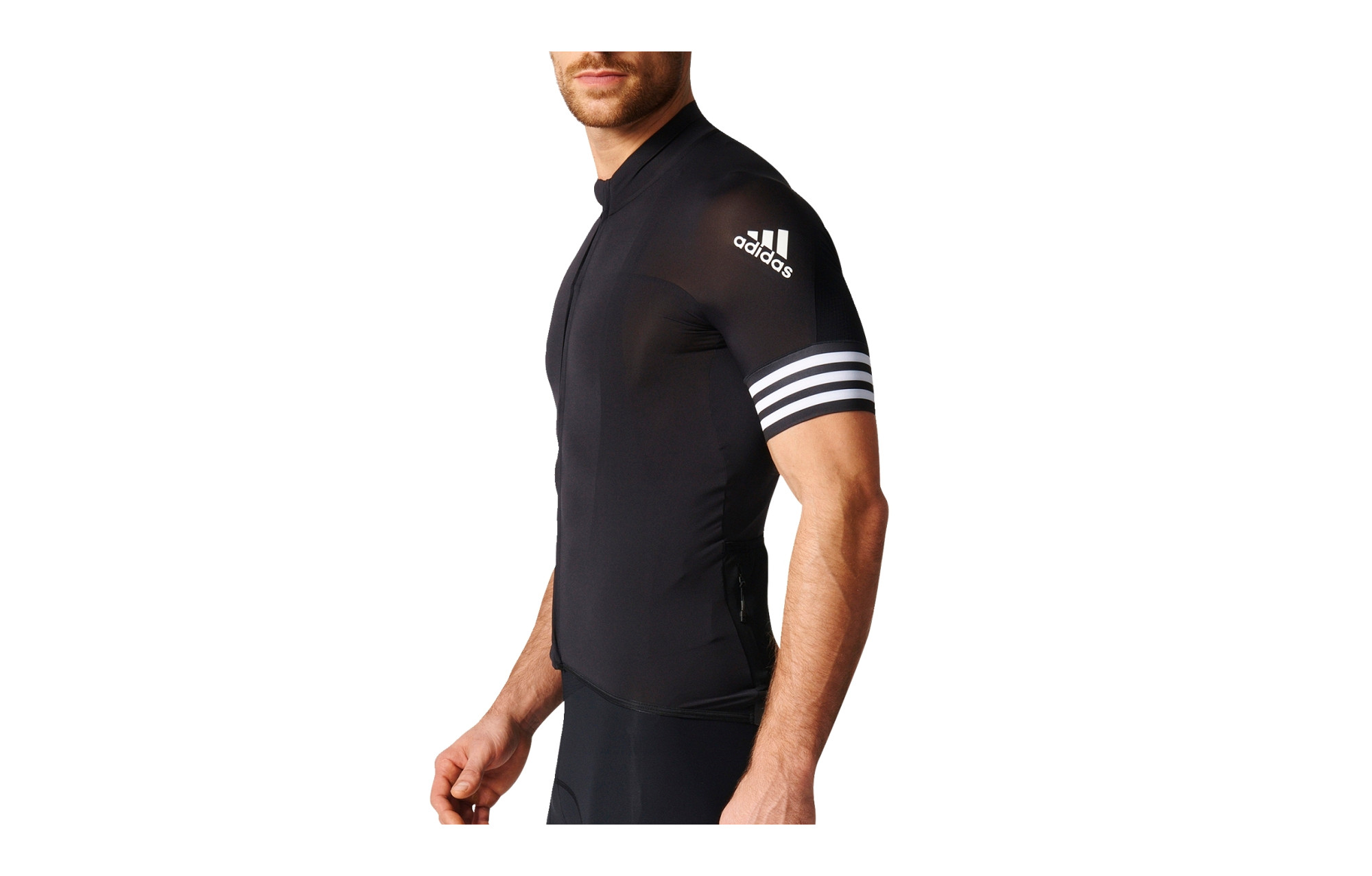 half off 7983e 69eb8 adidas cycling Short Sleeves Jersey ADISTAR CD.ZERO 3 Black