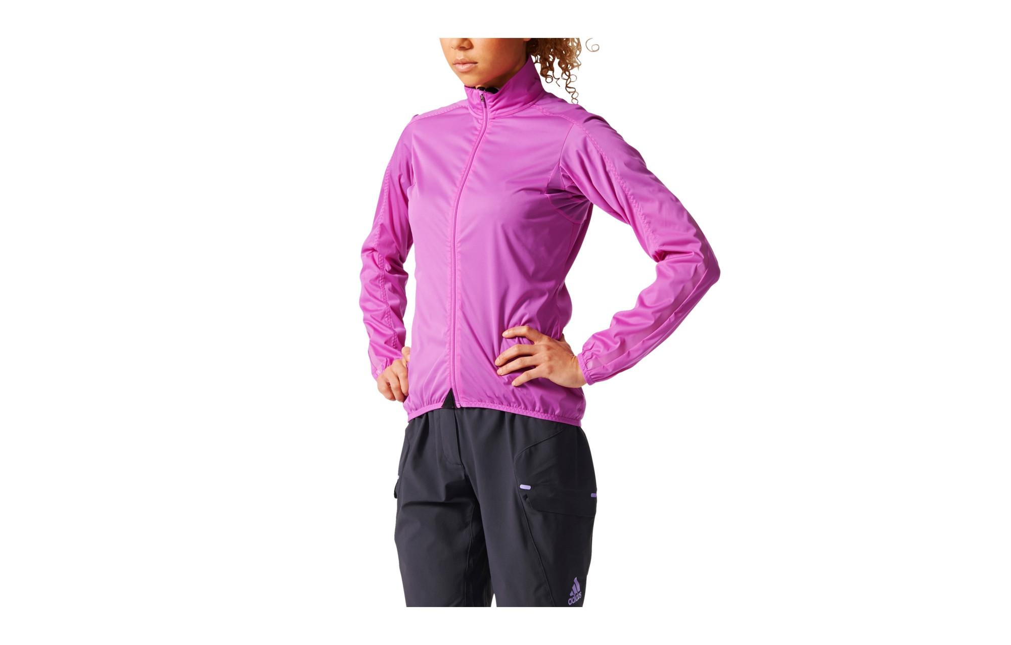Veste coupe vent d perlant femme adidas cycling infinity rose - Veste coupe vent adidas femme ...