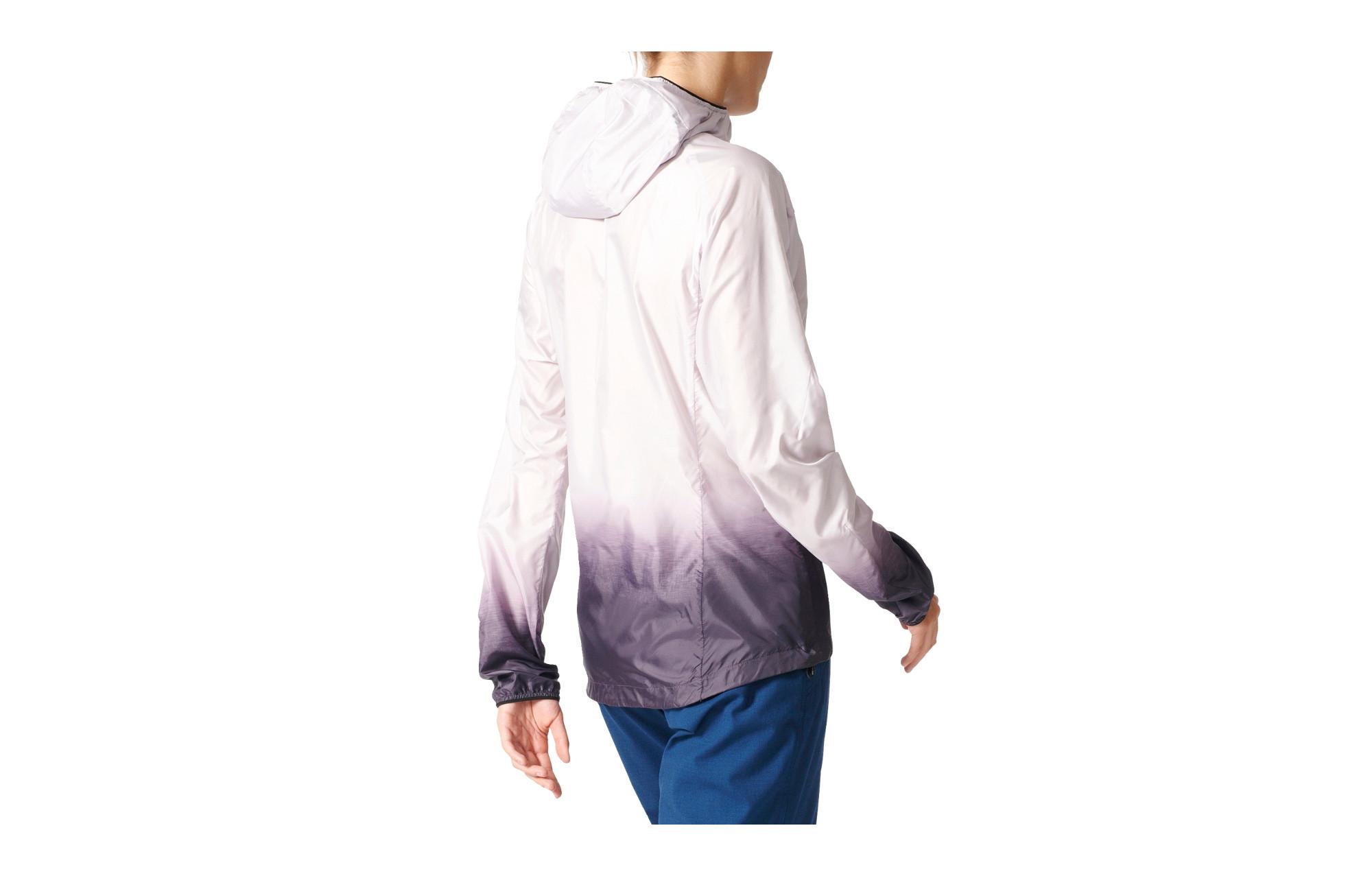 Veste coupe vent imperm able femme adidas running terrex agravic blanc violet - Veste coupe vent adidas femme ...