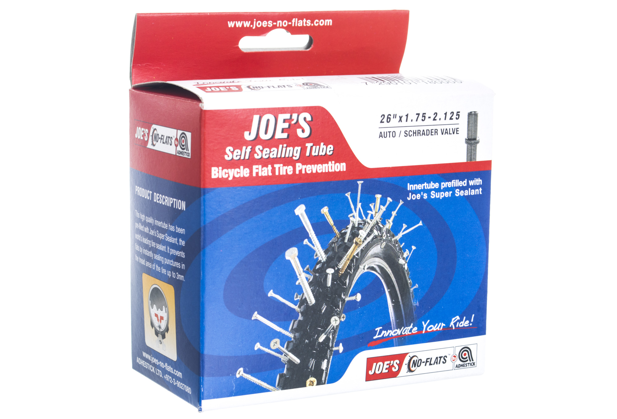 No flats joe s inner tube schrader valve big for Chambre a air 26x1 5