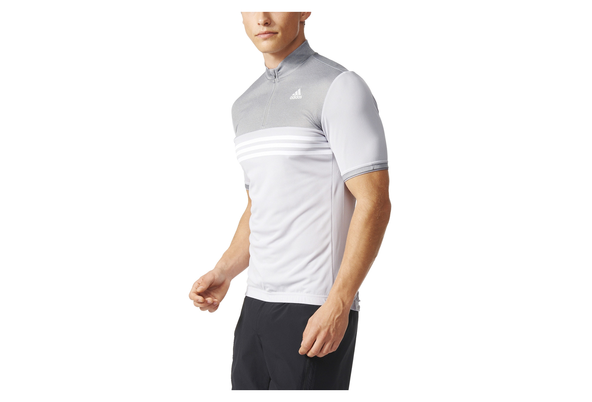 ADIDAS RESPONSE PLURES Short Sleeves Jersey Grey White  1a7283733