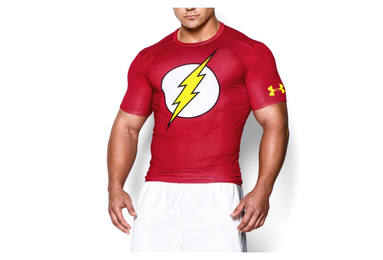 carencia Groseramente inicial  Under Armour Compression Short Sleeves Jersey Alter Ego Flash Red |  Alltricks.com