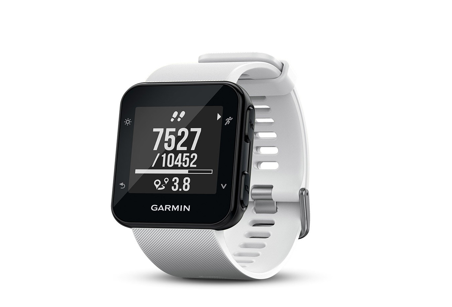 garmin uhr gps forerunner 35 hr white. Black Bedroom Furniture Sets. Home Design Ideas