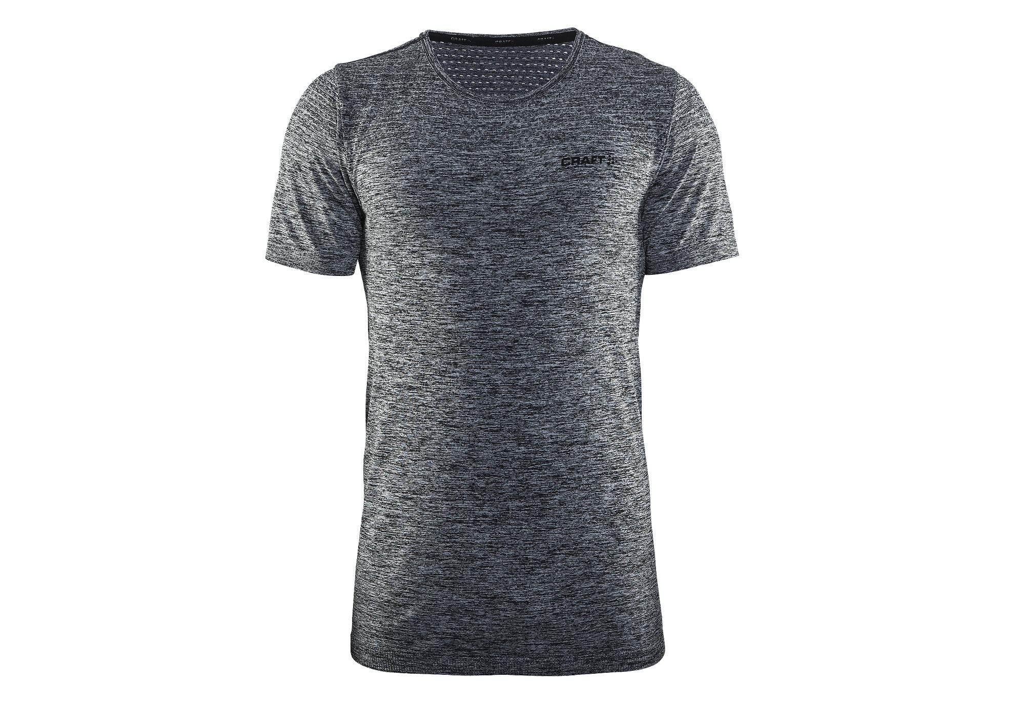 4c713e44ebcd59 Craft Core nahtlose T-Shirt mit kurzen Ärmeln schwarz grau ...