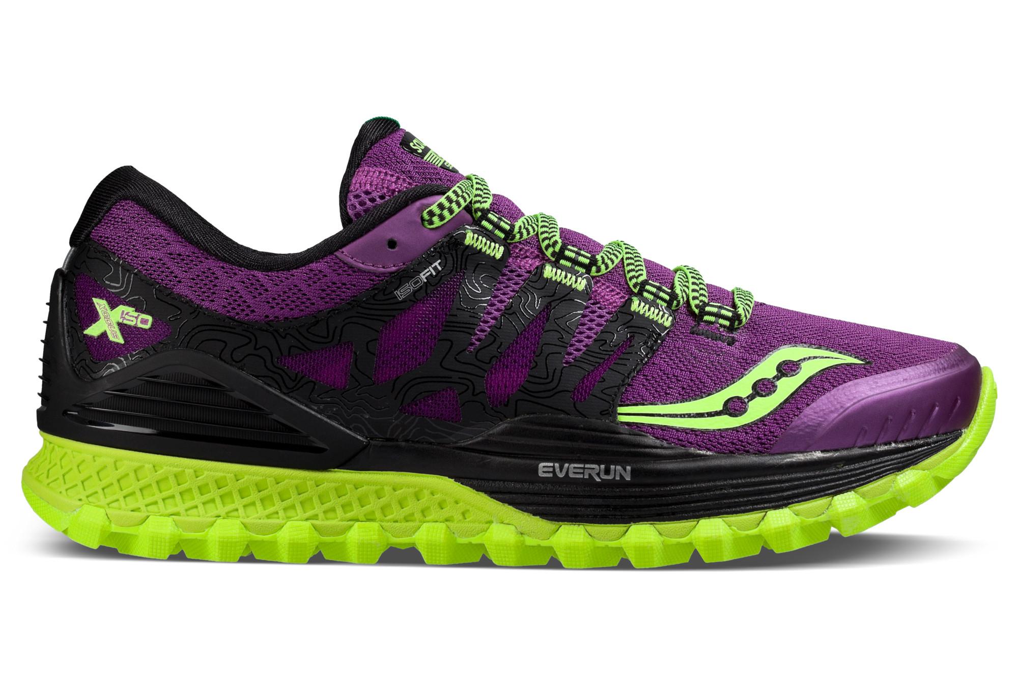Zapatillas Mujer Saucony Xodus ISO Violeta Amarillo