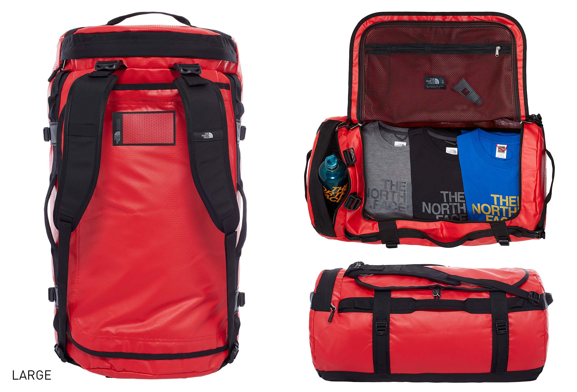 sac de sport the north face duffel base camp rouge. Black Bedroom Furniture Sets. Home Design Ideas