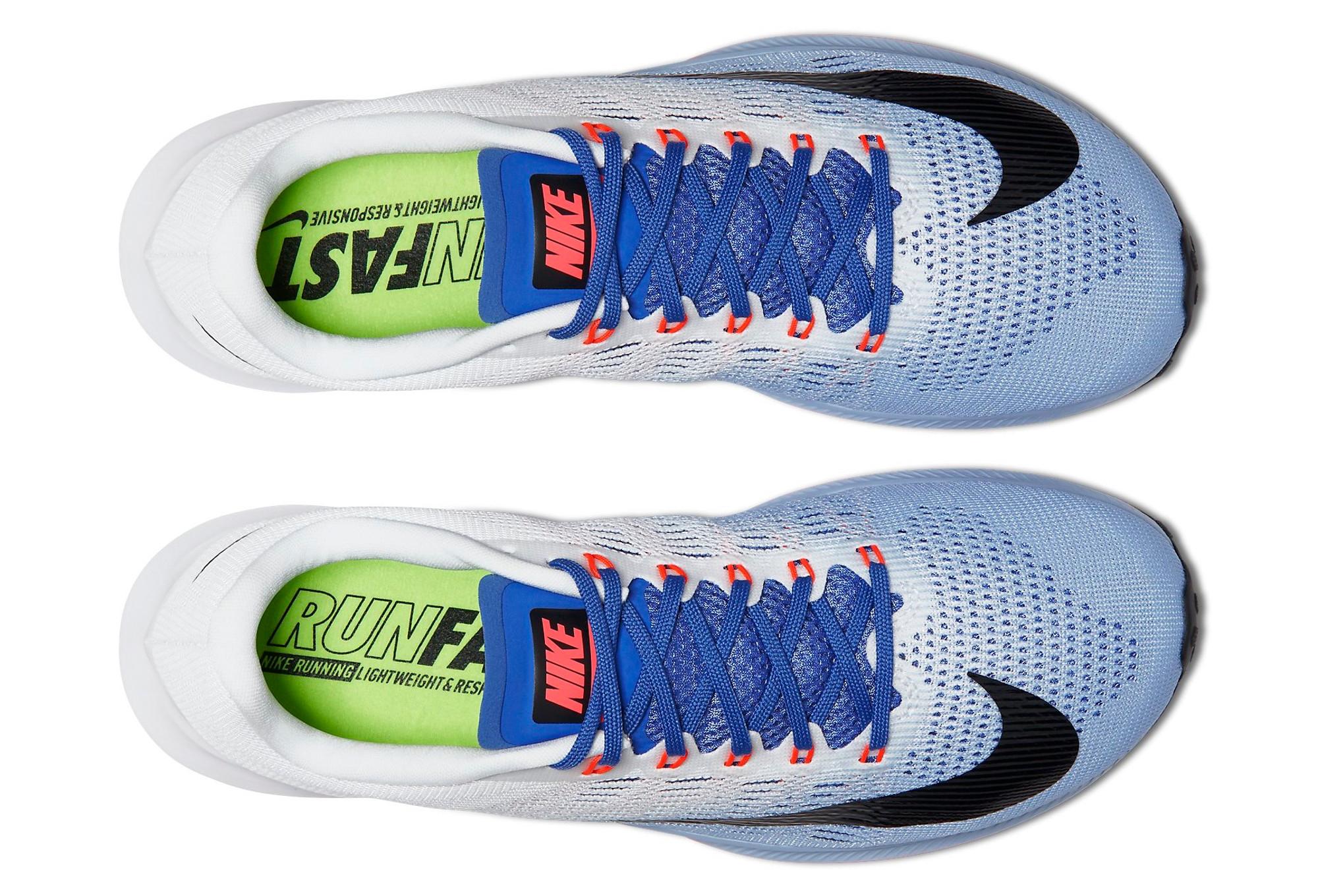 92365f45a9fb Chaussures de Triathlon Femme Nike AIR ZOOM ELITE 9 Blanc   Bleu ...