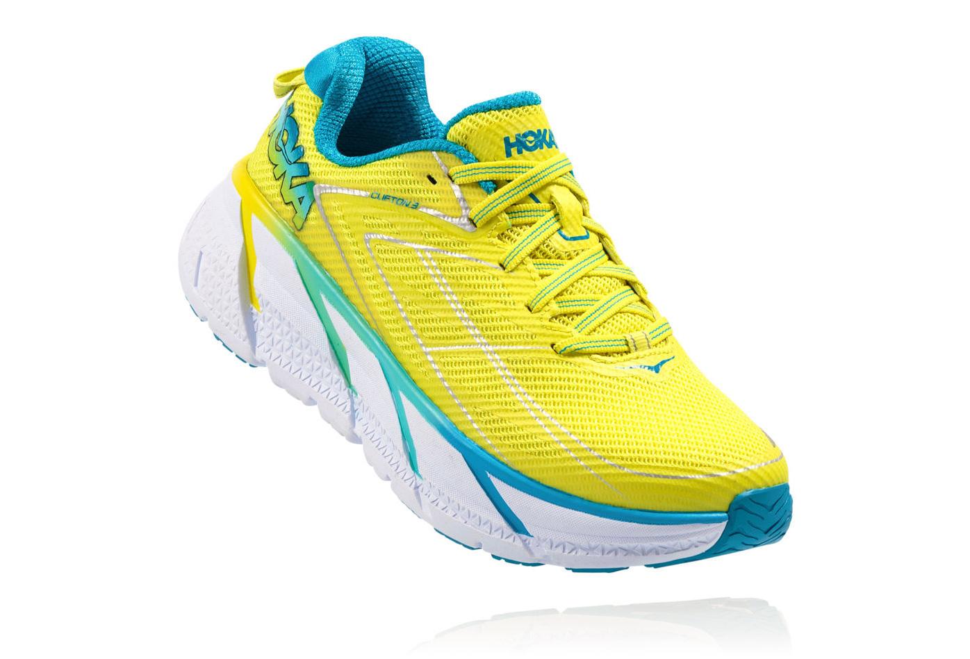 96169770721071 Chaussures de Running Femme Hoka One One Clifton 3 Jaune / Bleu ...