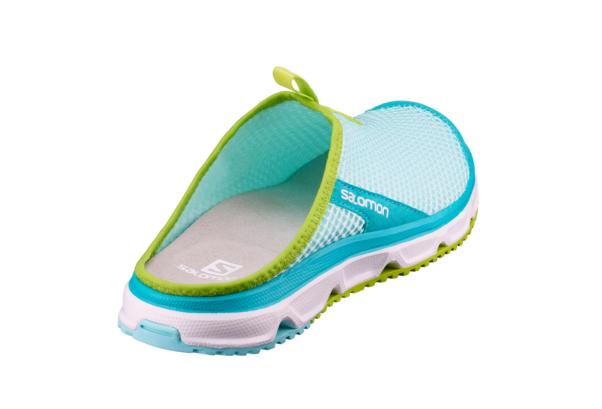 salomon rx slide 3 0 recovery shoes women blue green. Black Bedroom Furniture Sets. Home Design Ideas