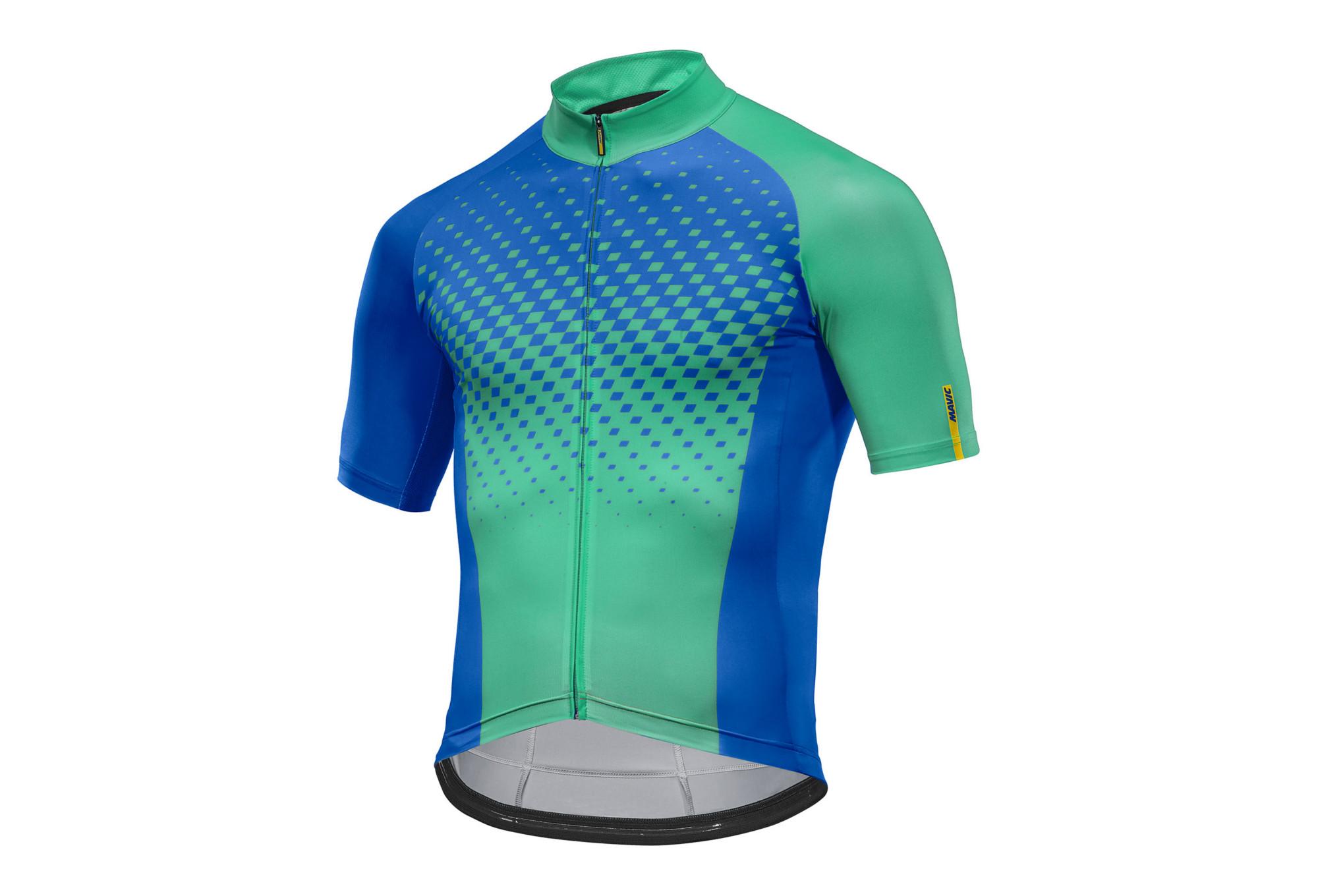 5ff4f4e2b Short Sleeves Jersey MAVIC 2017 Crossmax Elite Blue Green ...