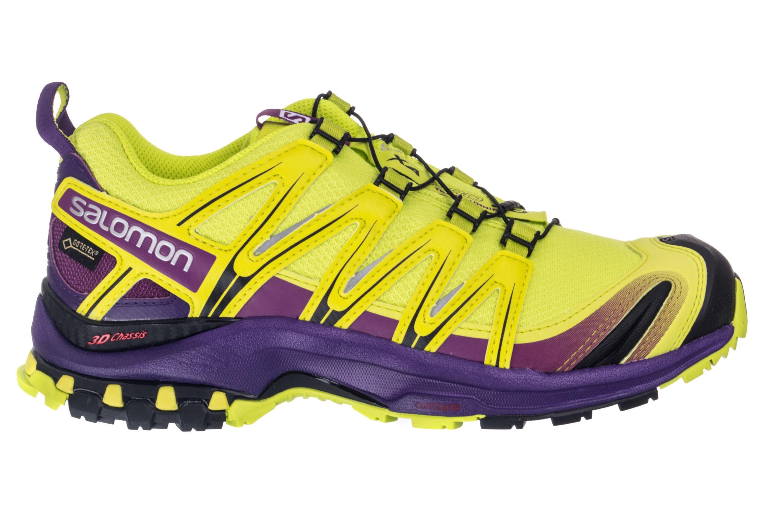 salomon shoes xa pro 3d gtx women yellow purple. Black Bedroom Furniture Sets. Home Design Ideas