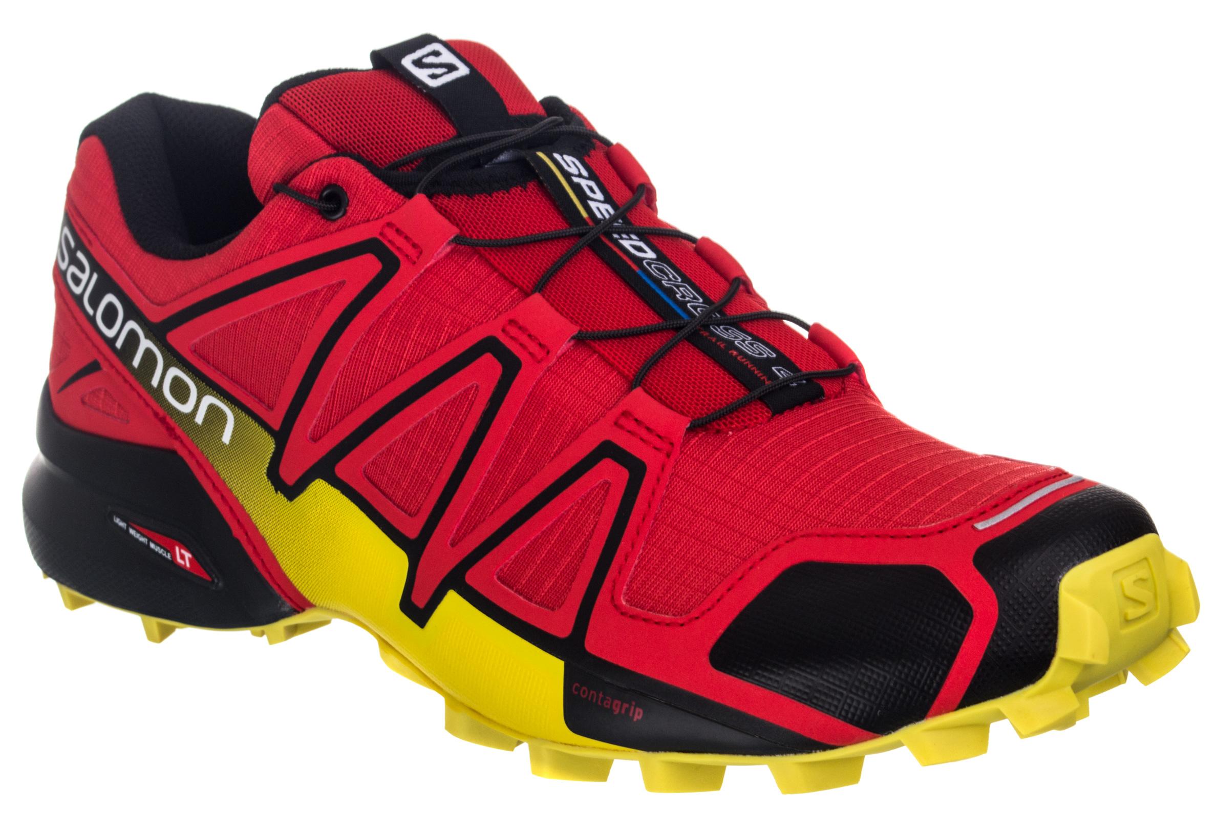 caa00f80bd919 Zapatillas Salomon SPEEDCROSS 4 para Hombre Rojo   Amarillo