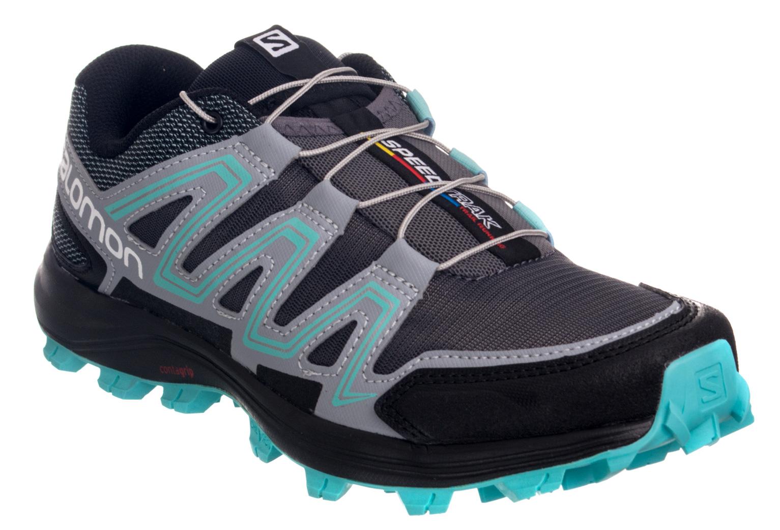 chaussures de trail femme salomon speedtrak bleu gris. Black Bedroom Furniture Sets. Home Design Ideas
