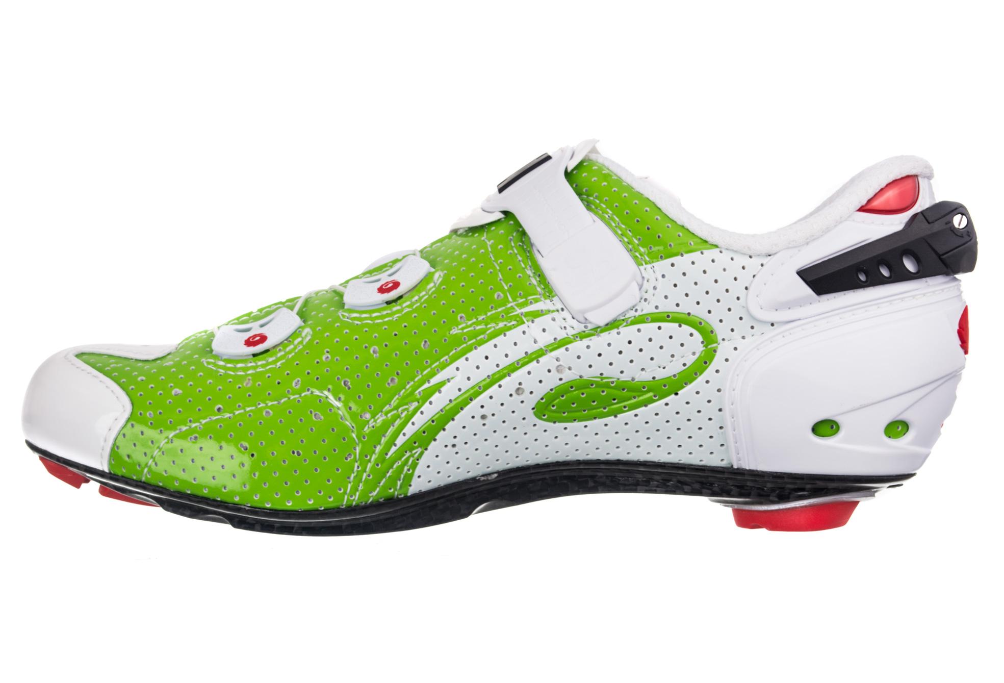 Sidi Wire Carbon Air Vernice Road Shoes White Neon Green | Alltricks.com