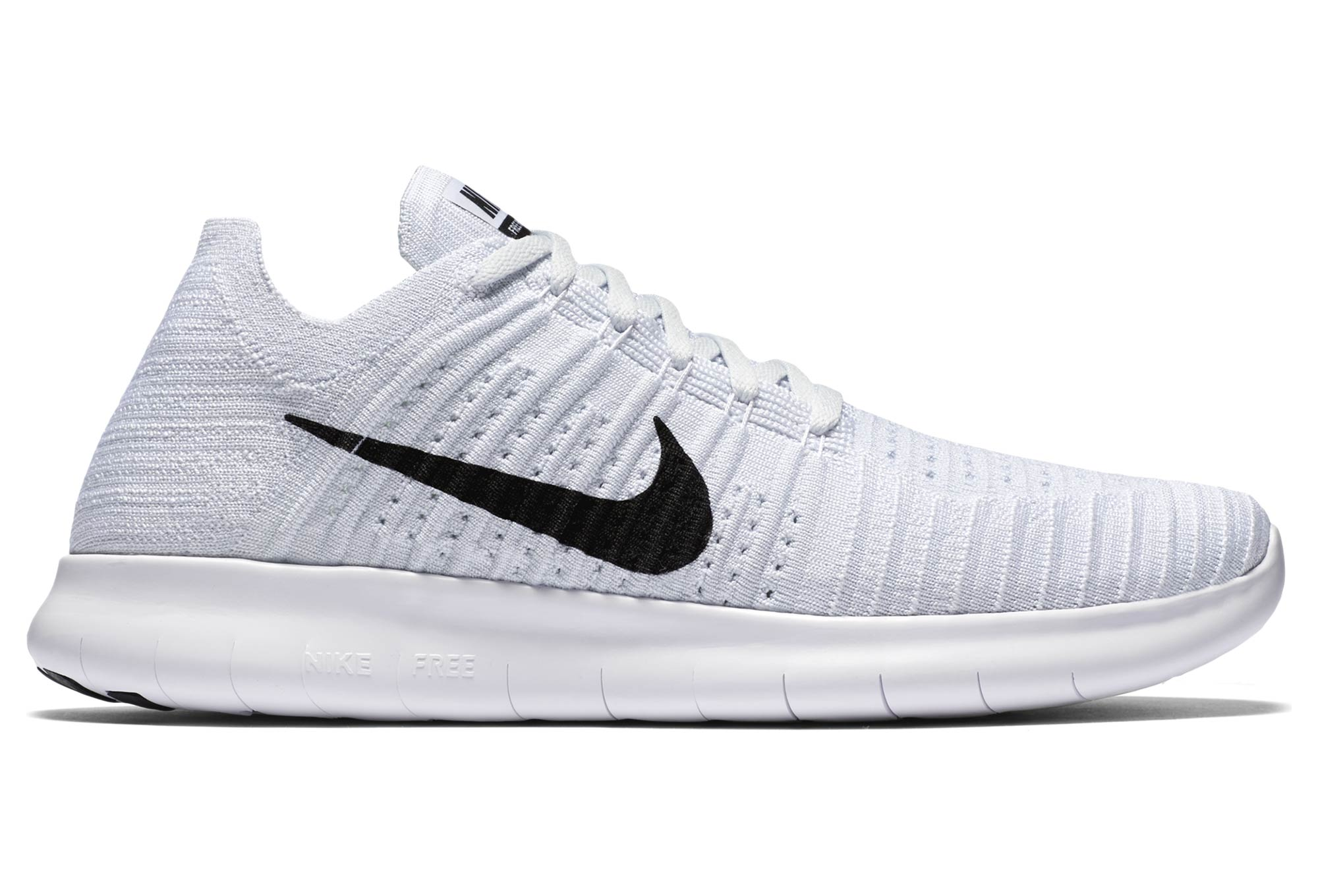 chaussures de running nike free rn flyknit 2016 blanc. Black Bedroom Furniture Sets. Home Design Ideas