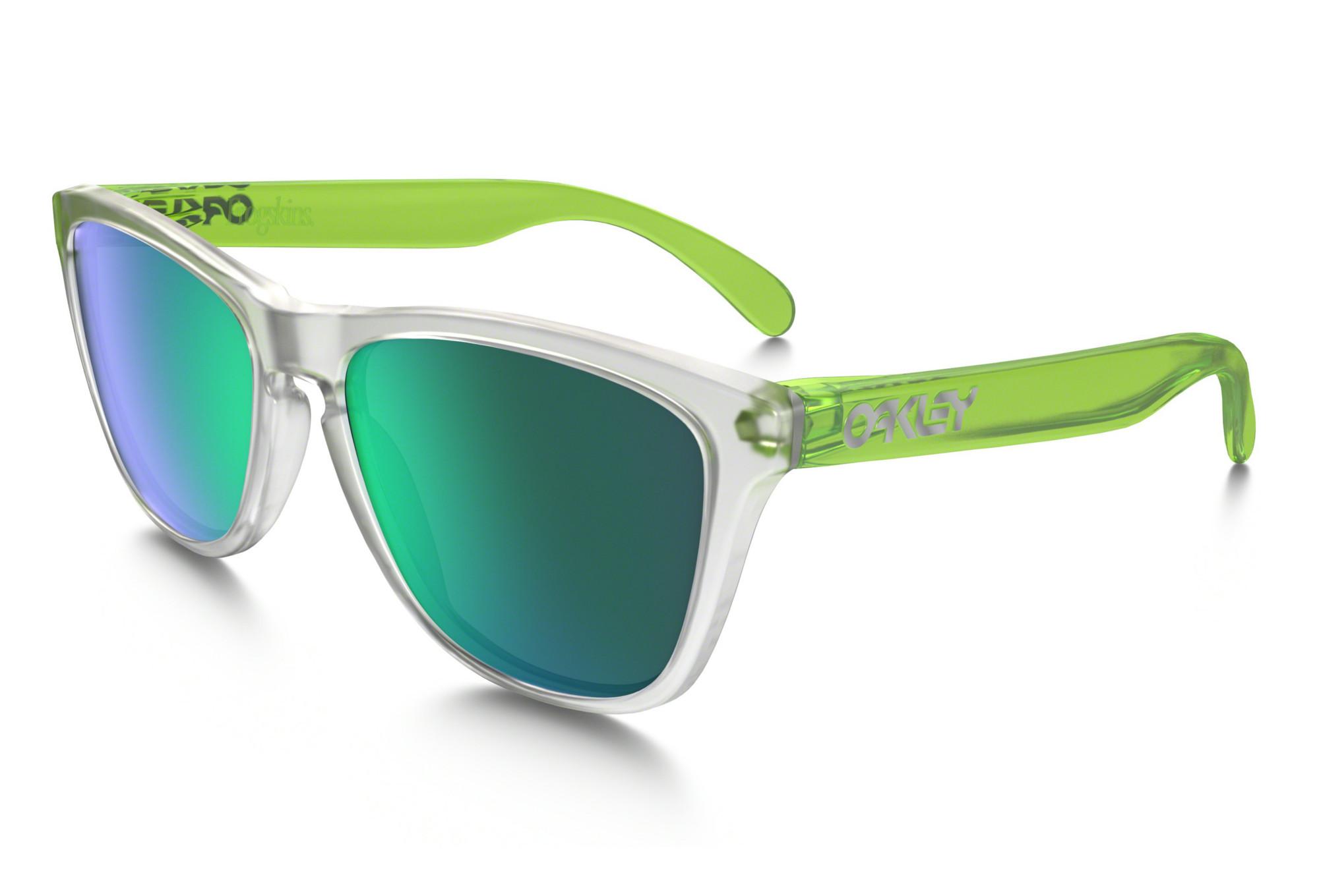 d62bfcc4472 Gafas Oakley Frogskins clear green green Iridium   Miroir OO9013-B455