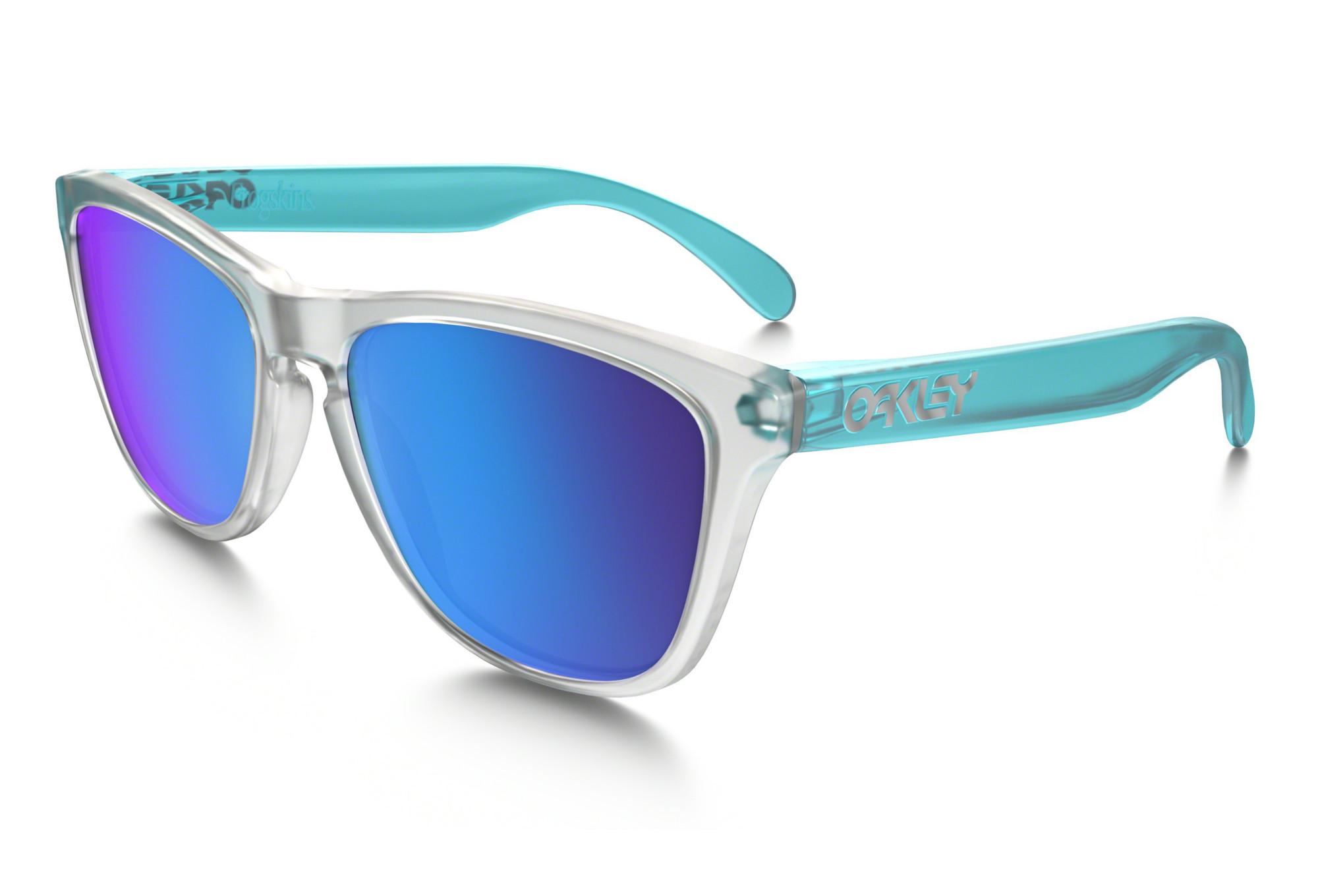 7530968ee7c OAKLEY Sunglasses Frogskins Clear Blue Sapphire Iridium Ref OO9013-B255
