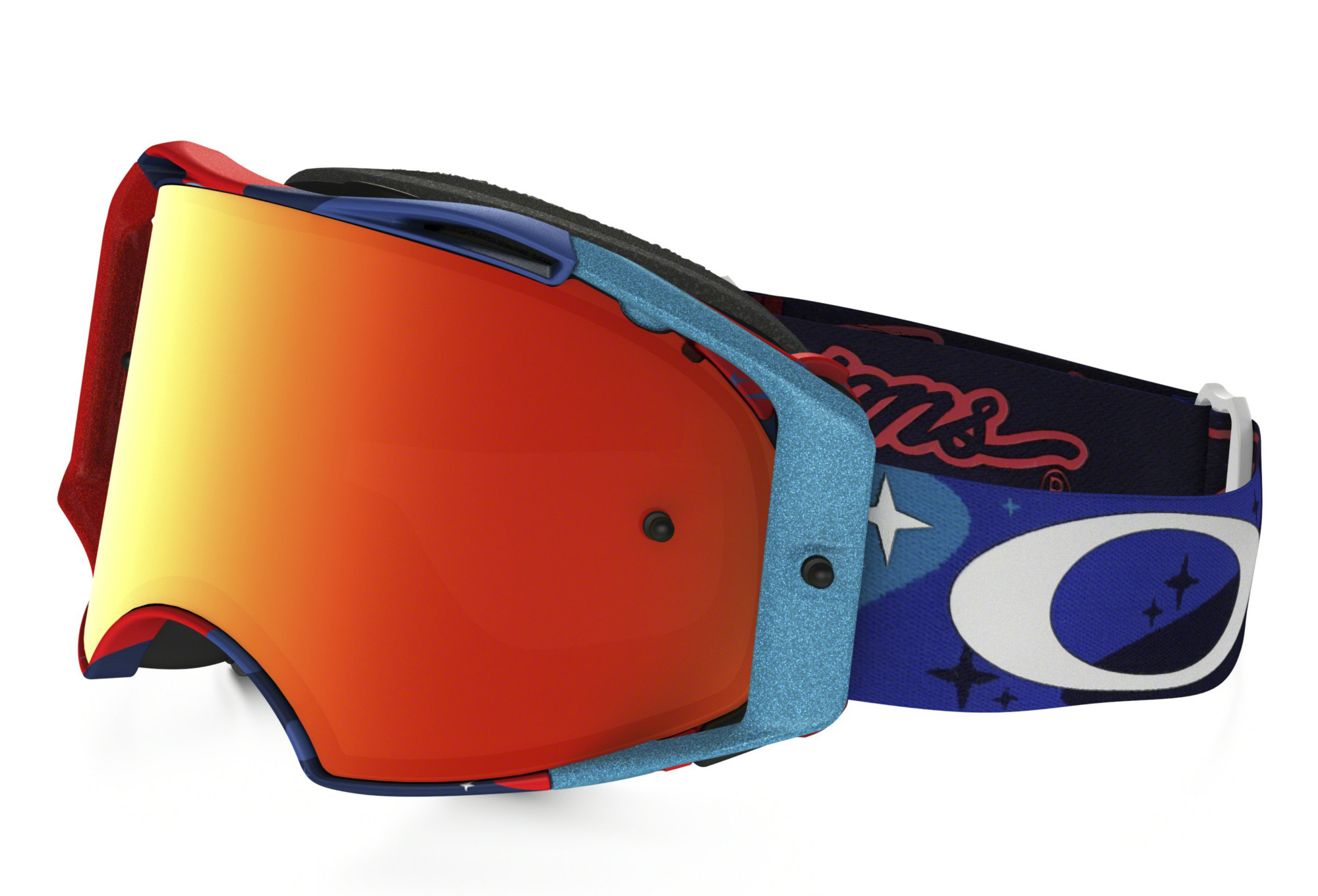 Masque OAKLEY AIRBRAKE MX TLD Cosmic Camo Bleu Rouge Fire Iridium Ref  OO7046-28 2c8d89c41cd0