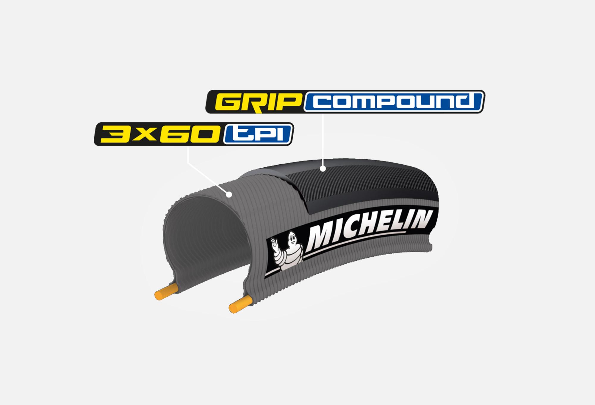 Michelin Lithion3 Pneu de v/élo Route Mixte