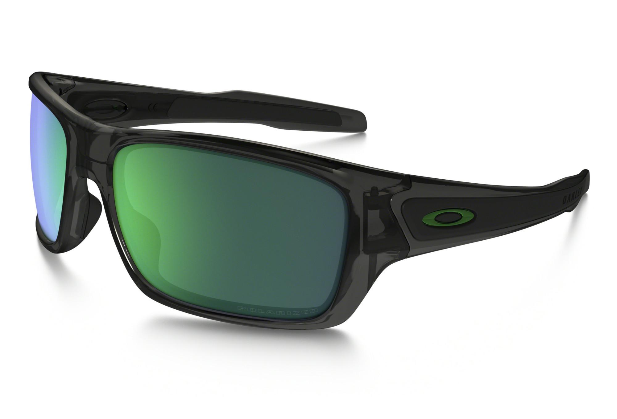 50f17daeaba OAKLEY Sunglasses Turbine Grey Smoke Jade Iridium Polarized Ref  OO9263-09