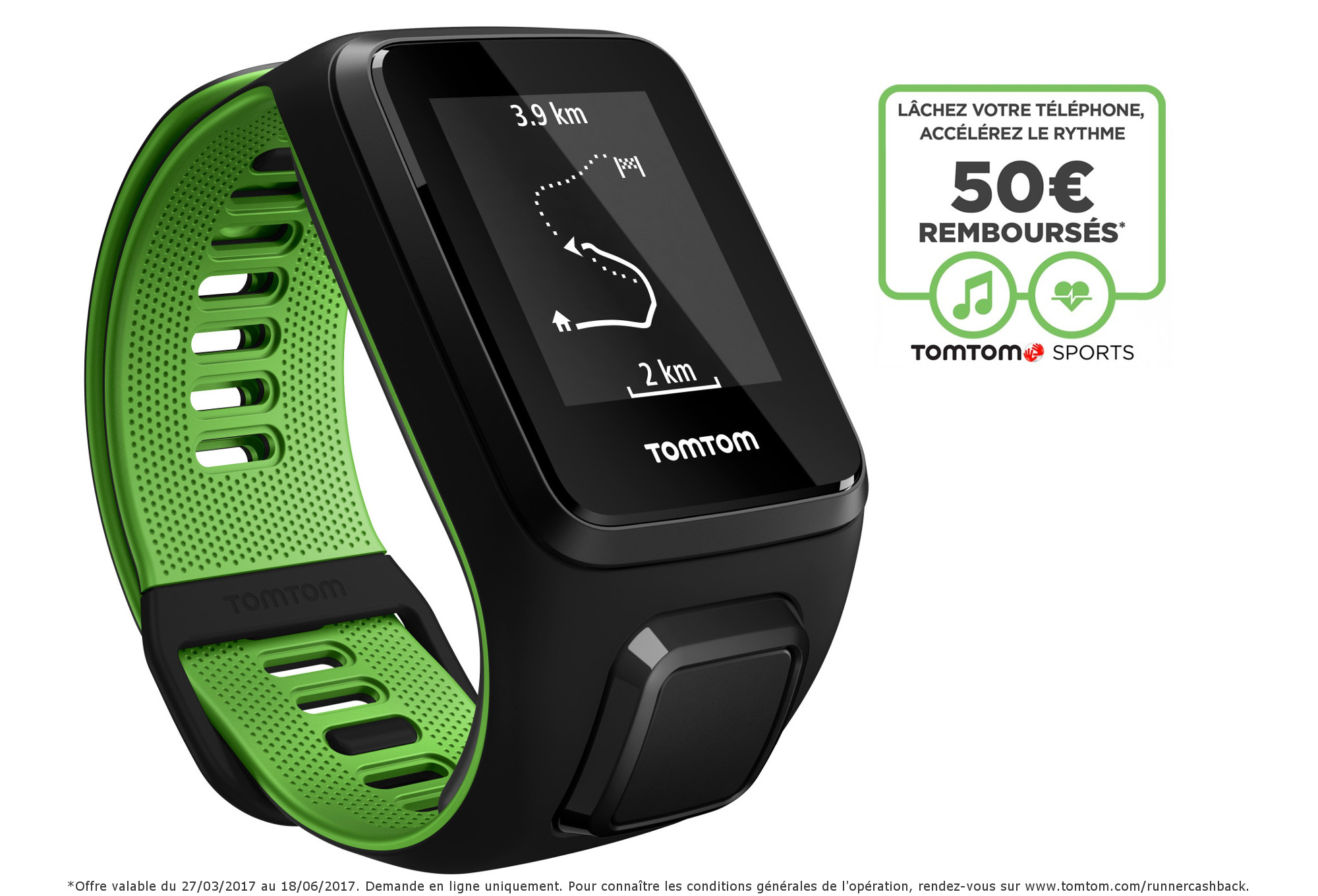 montre gps tomtom runner 3 cardio music bracelet fin. Black Bedroom Furniture Sets. Home Design Ideas