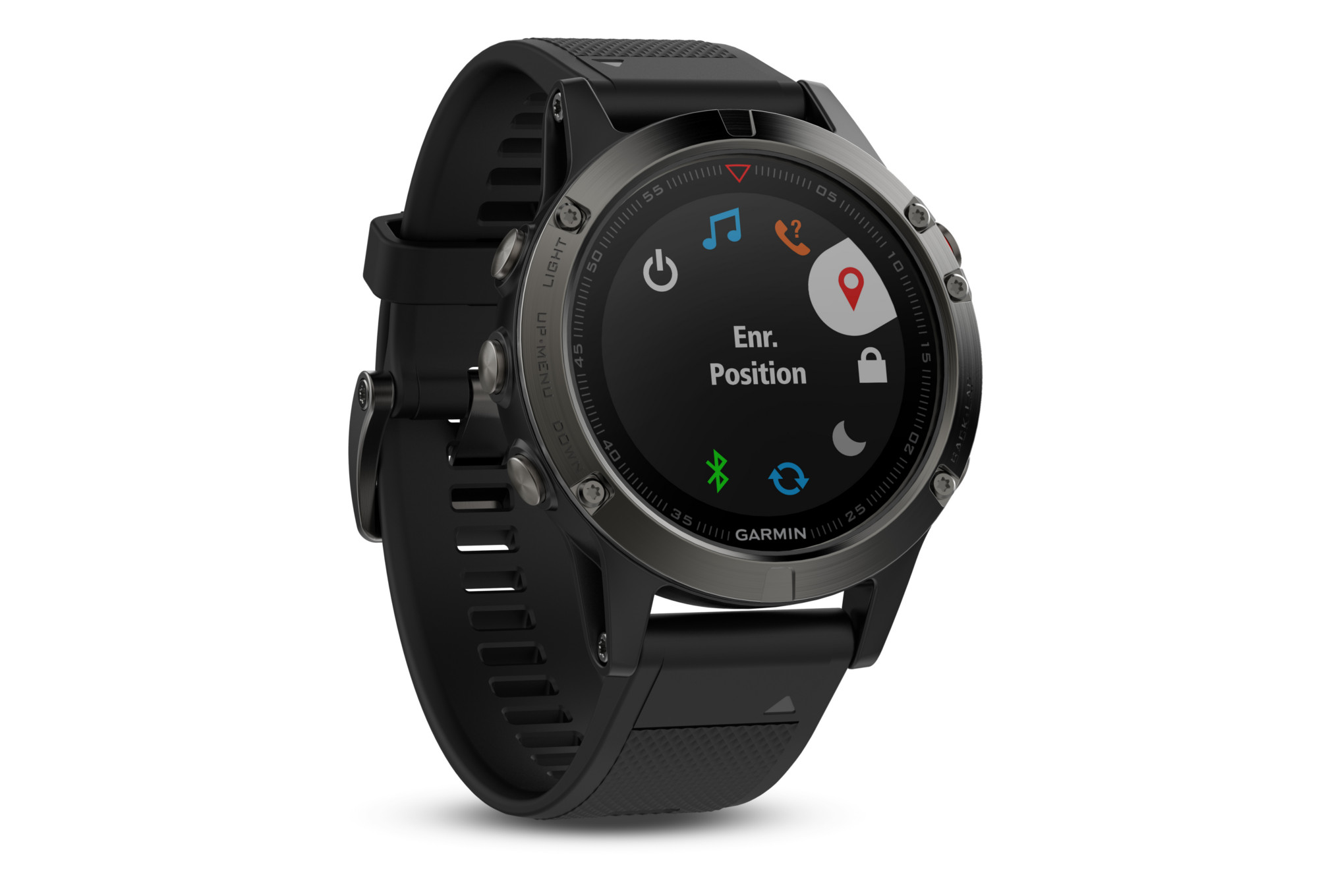 gps uhr garmin fenix 5 hr grau. Black Bedroom Furniture Sets. Home Design Ideas