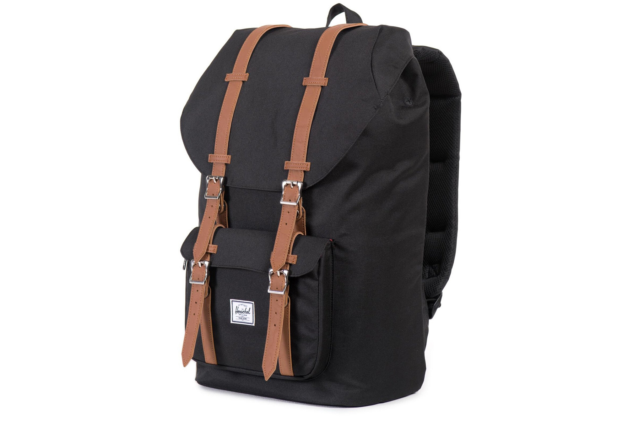 7041ff6caad HERSCHEL Little America 25L Black Tan Synthetic Leather