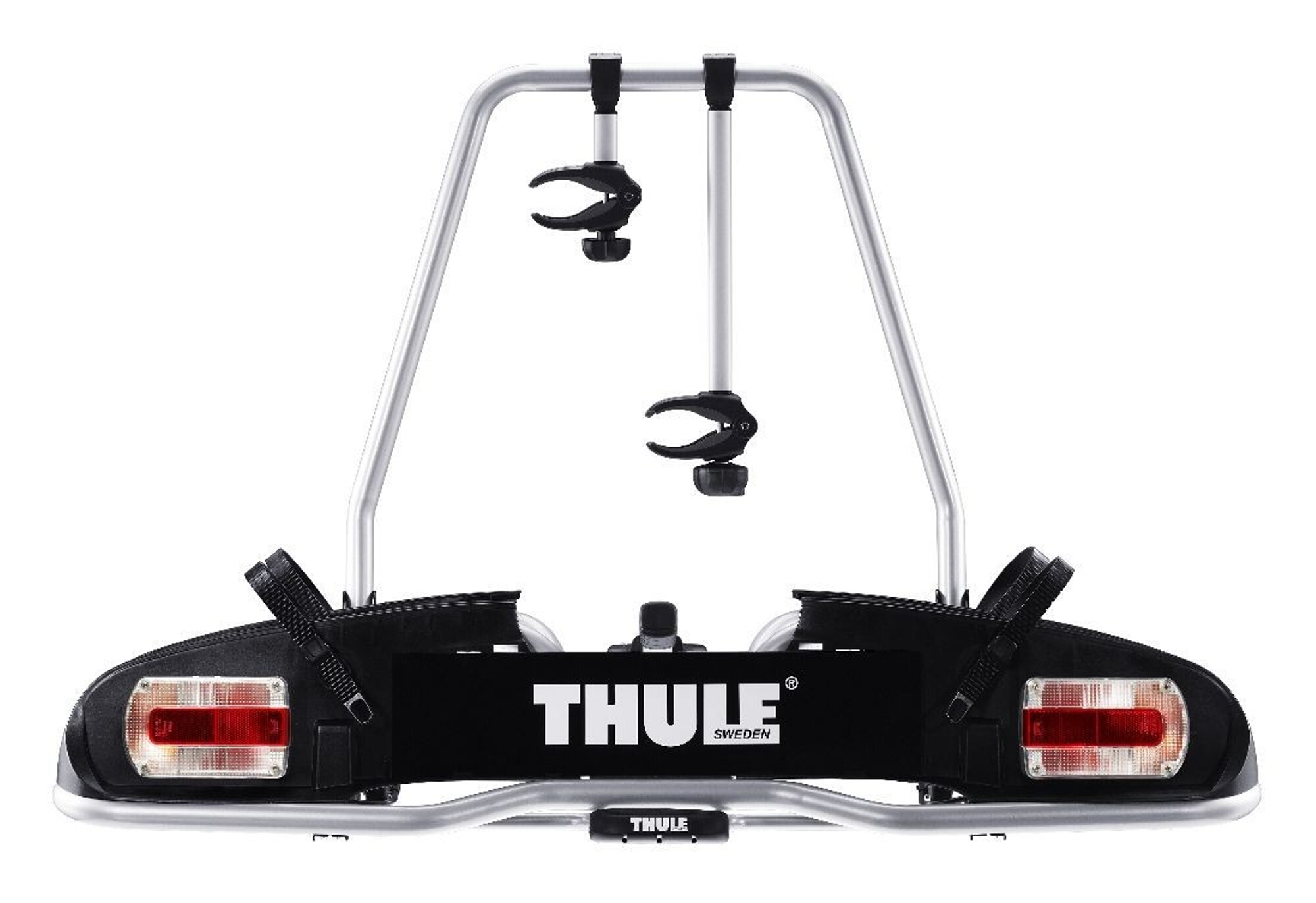 thule porte v lo pour boule d attelage europower 916 pour 2 velos. Black Bedroom Furniture Sets. Home Design Ideas