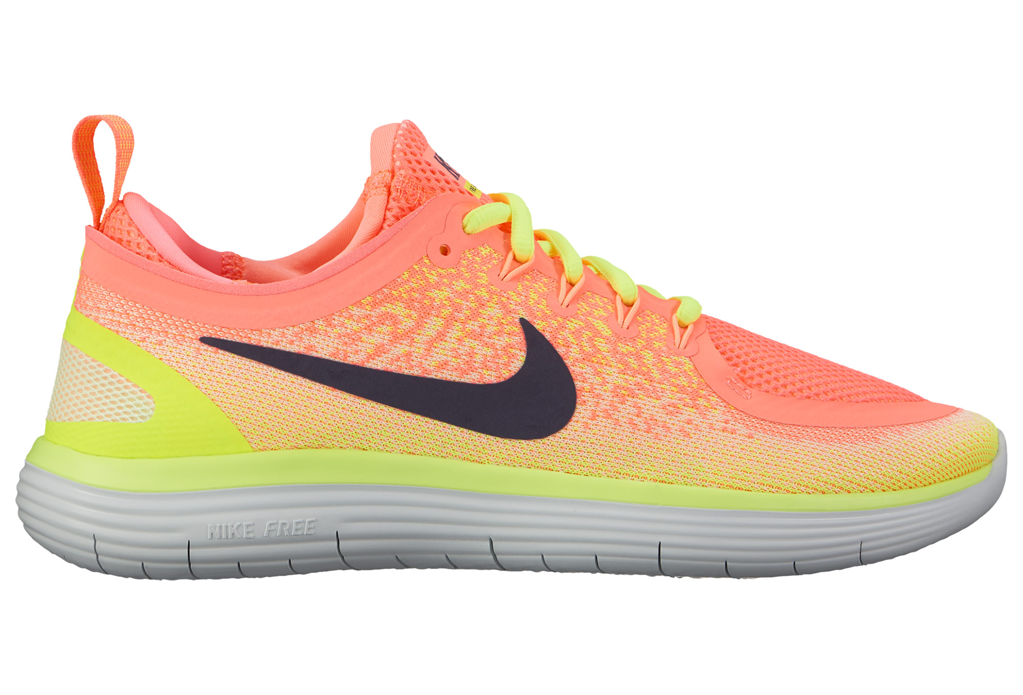 super popular dbab1 a3ccb Chaussures de Running Femme Nike FREE RUN DISTANCE 2 Rose   Jaune