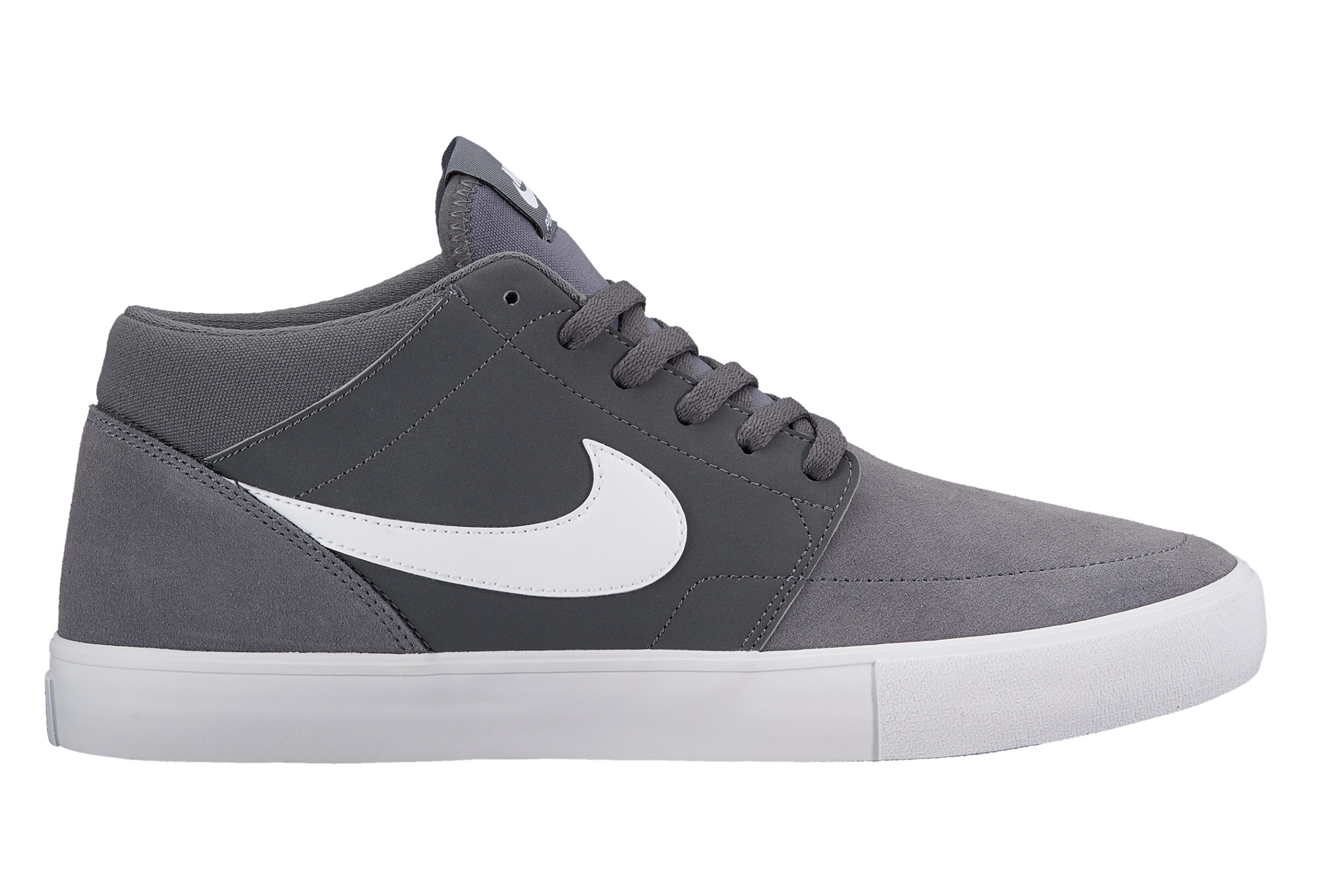 nike sb solarsoft portmore ii mid shoes grey white. Black Bedroom Furniture Sets. Home Design Ideas