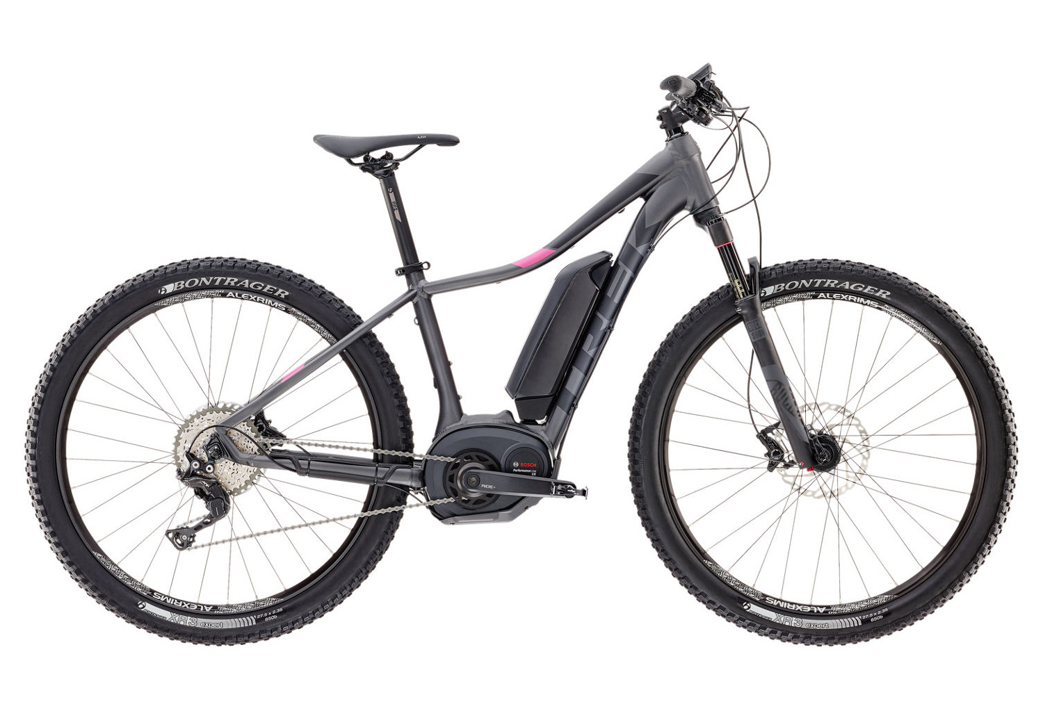trek powerfly 7 2017 e bike 27 5 39 39 grey pink. Black Bedroom Furniture Sets. Home Design Ideas
