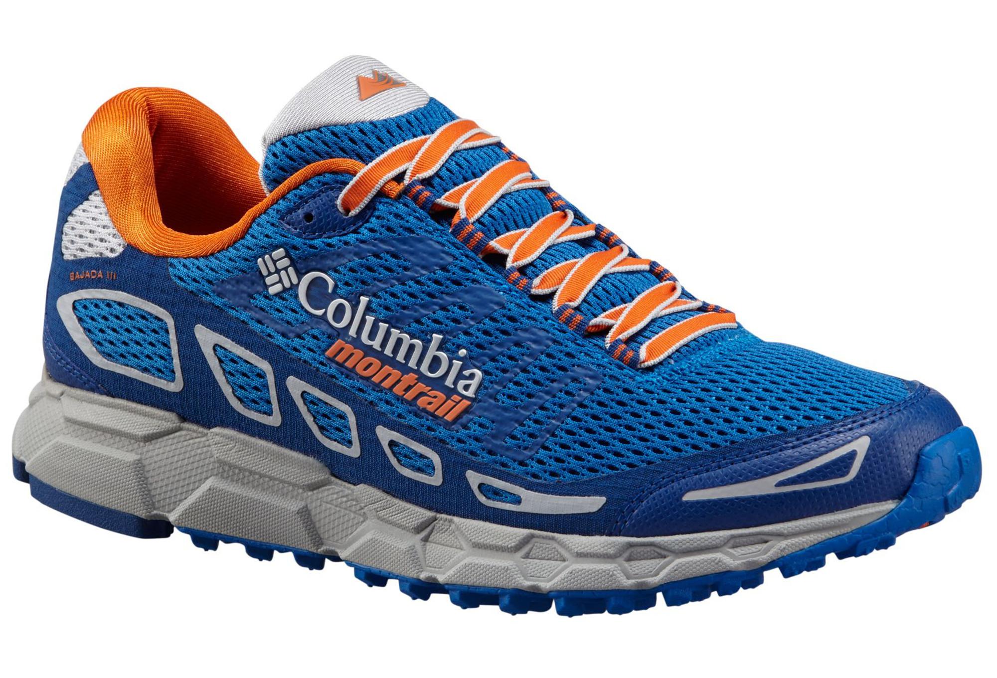 chaussures de trail columbia bajada iii bleu orange. Black Bedroom Furniture Sets. Home Design Ideas