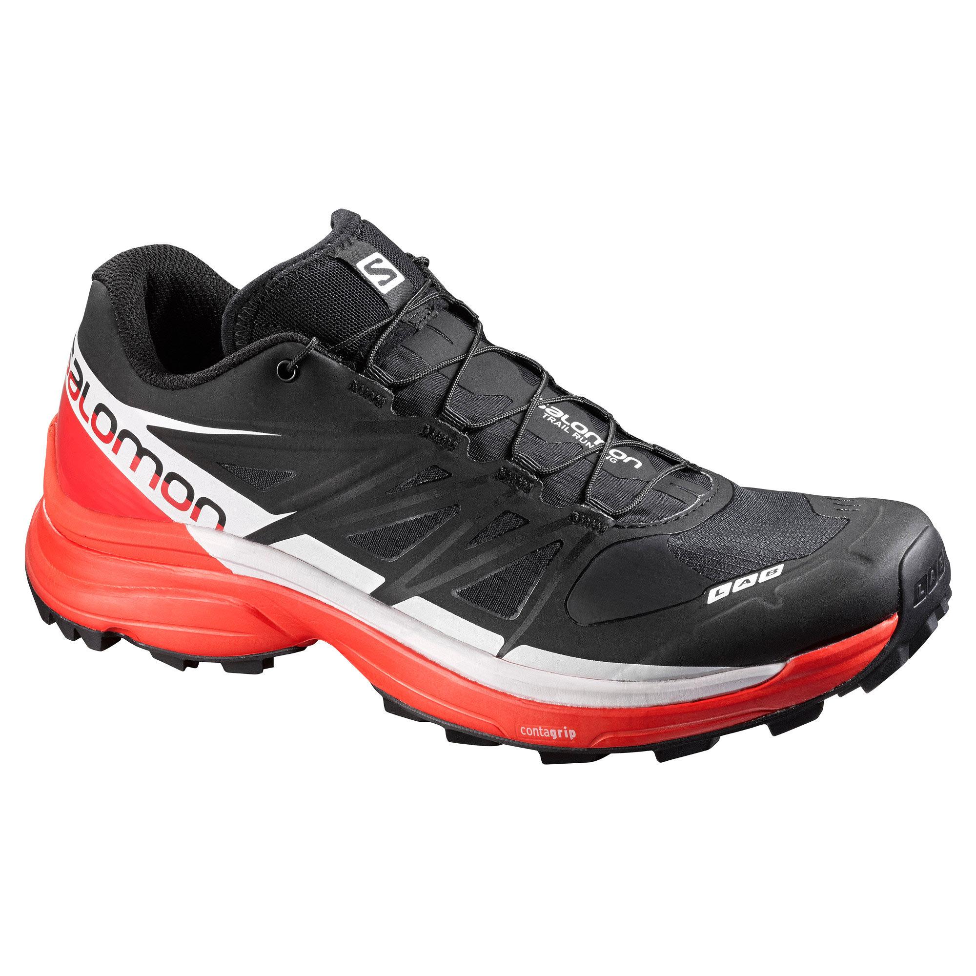 best service 11d96 f5653 Chaussures de Trail Salomon S-LAB WINGS 8 Soft Ground Noir   Rouge