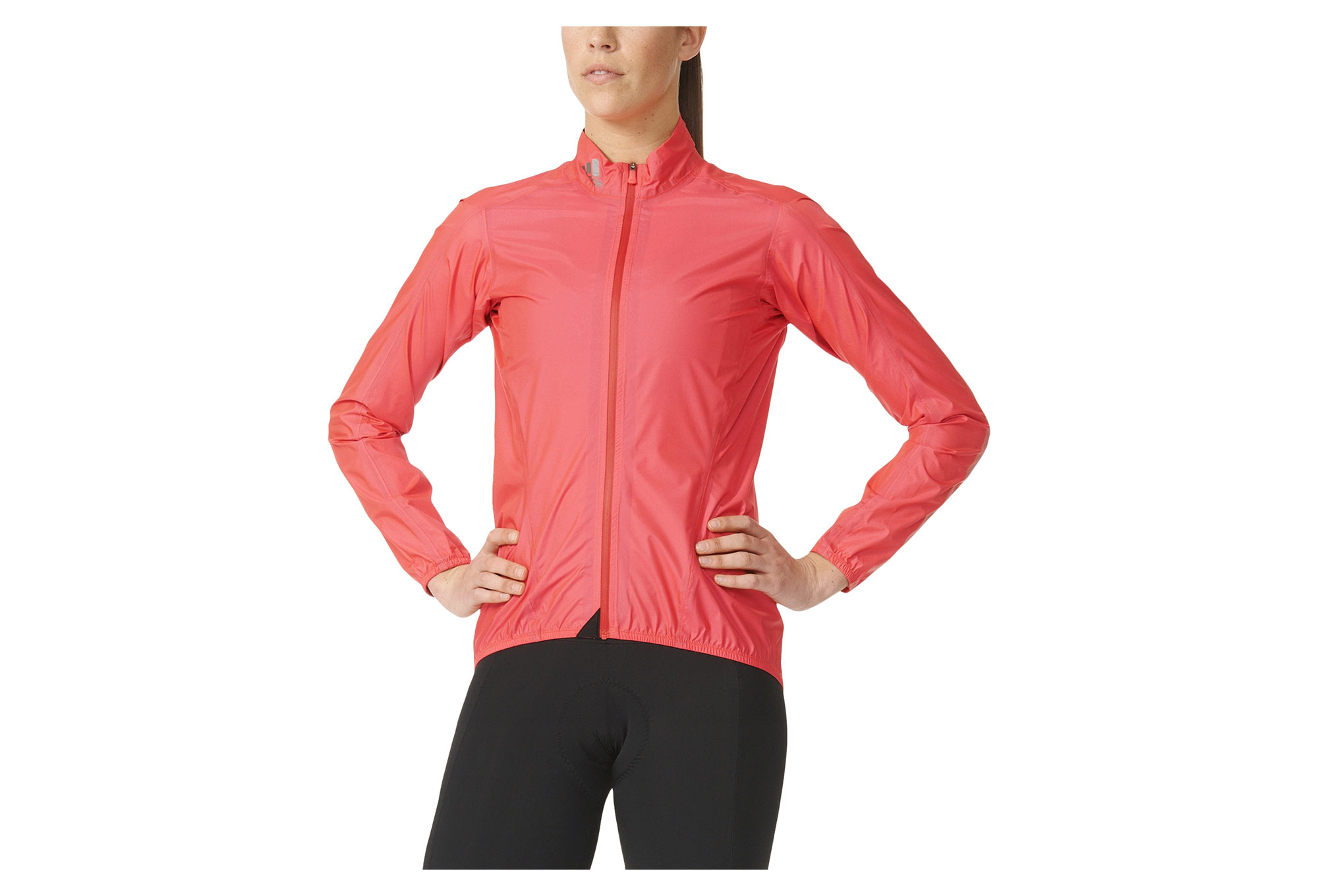 Veste Coupe Vent Impermeable Femme Adidas Cycling H Too Oh Rouge