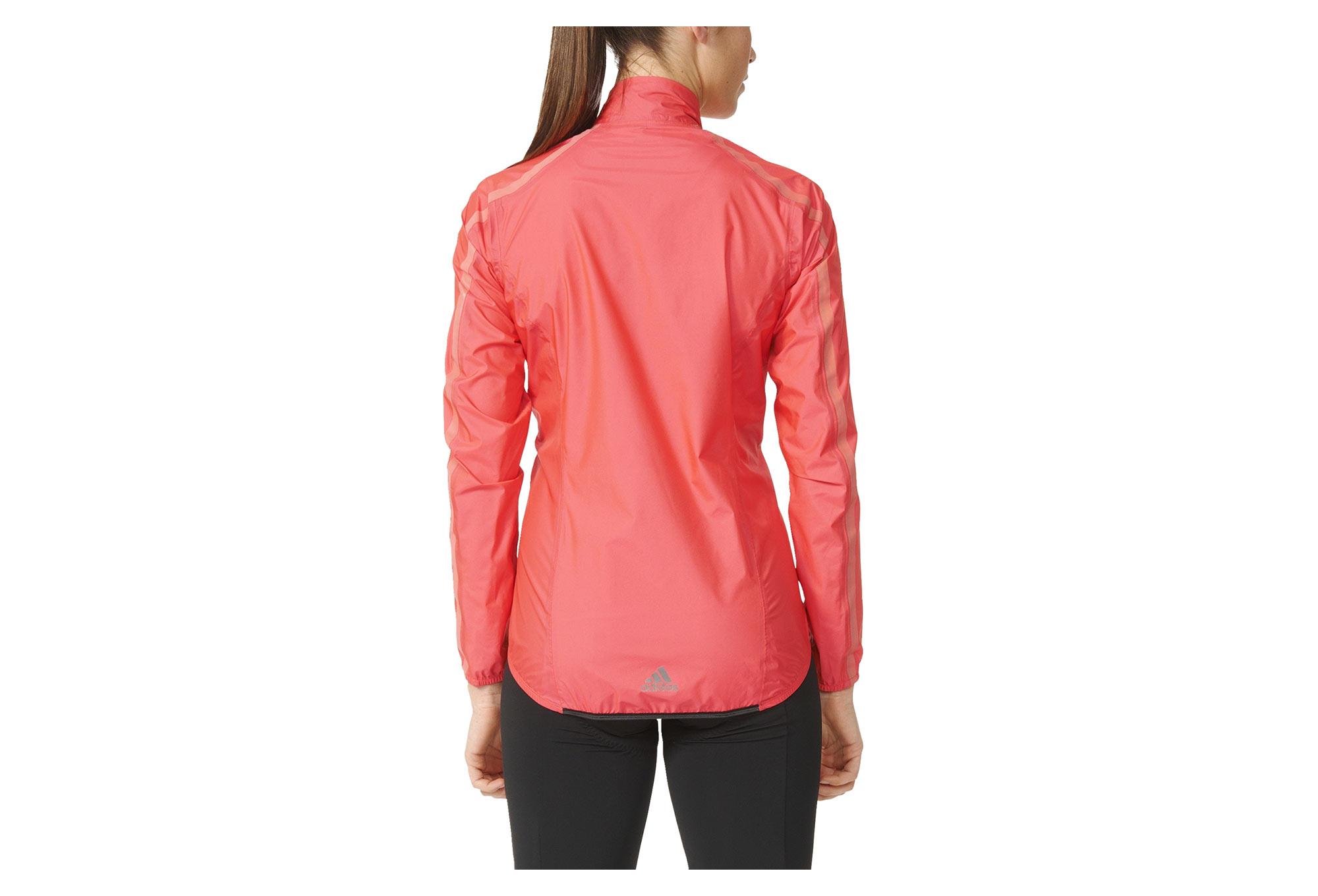Veste coupe vent imperm able femme adidas cycling h too oh rouge n on - Veste coupe vent impermeable femme ...