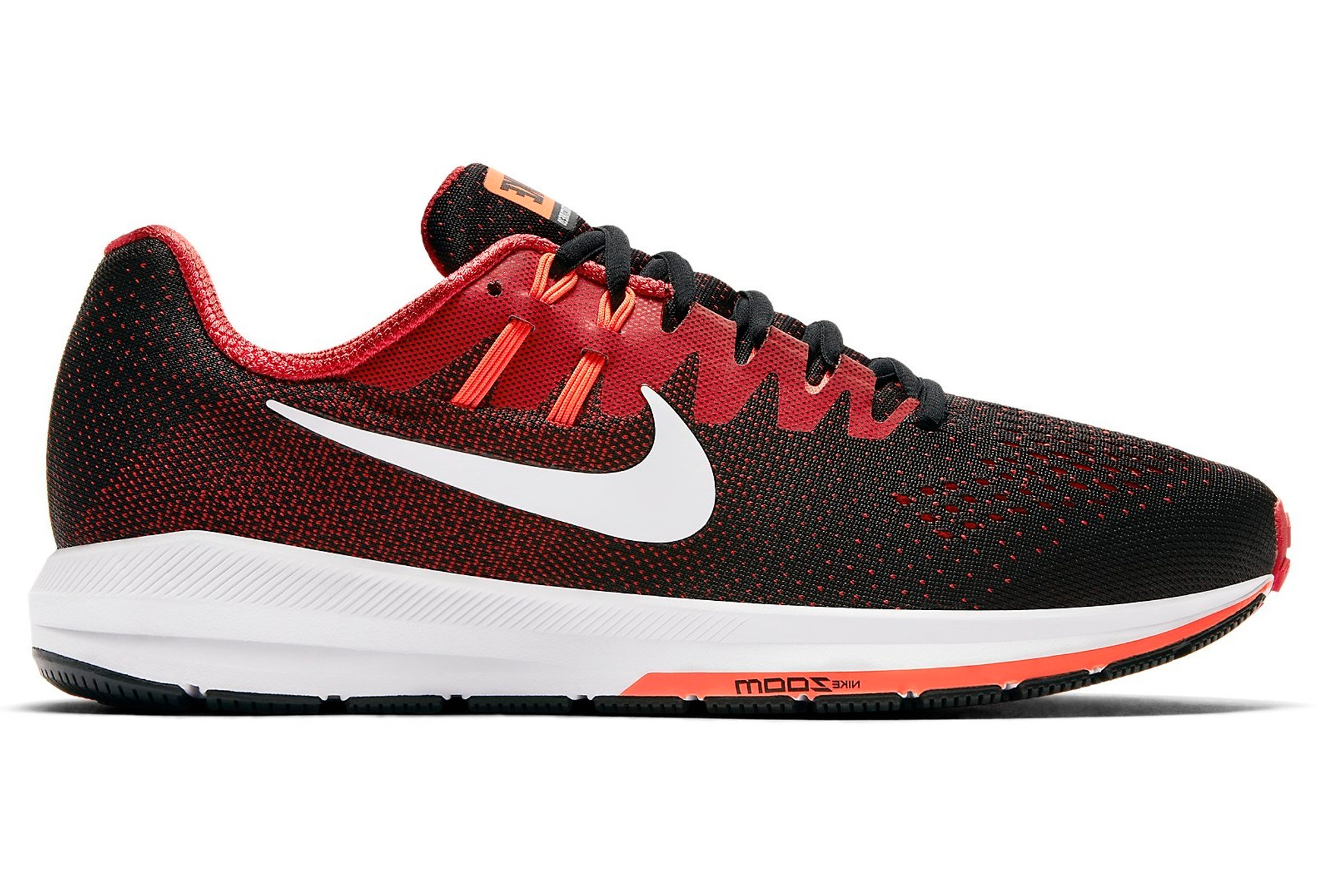 NIKE AIR ZOOM STRUCTURE 20 Black Red Uomo