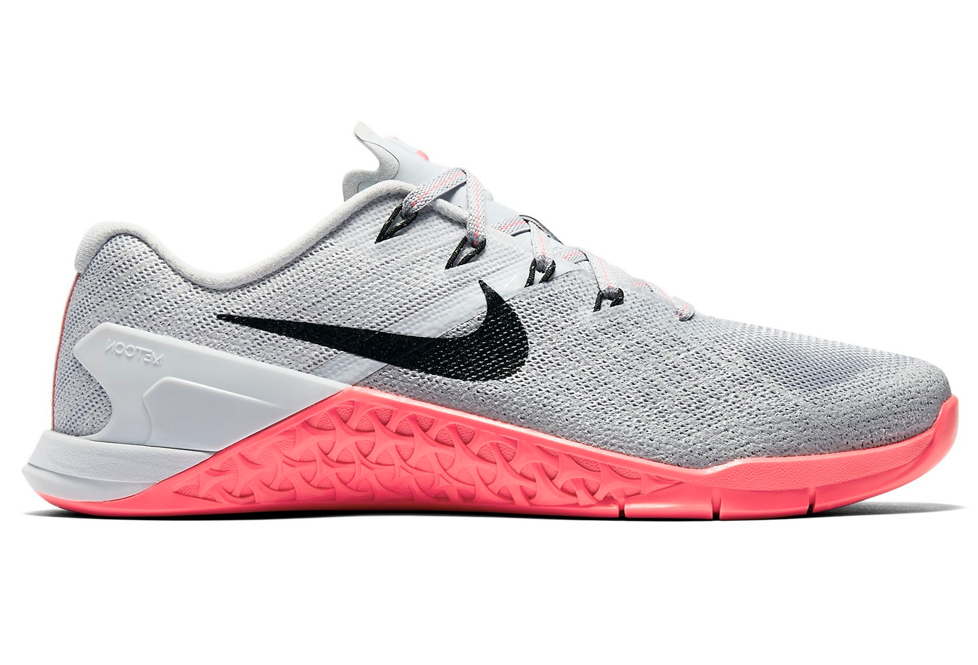 chaussures de cross training femme nike metcon 3 gris rose