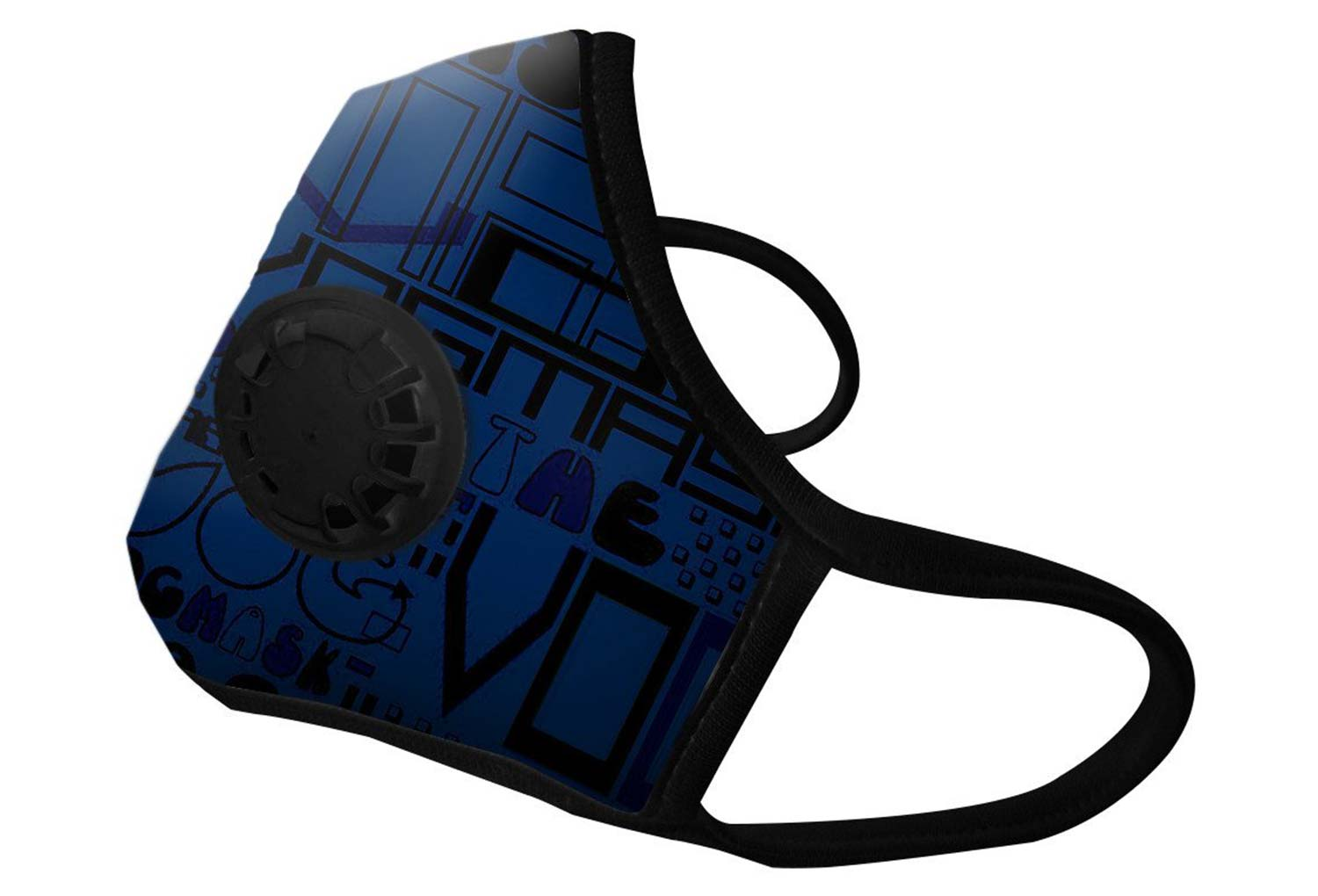 masque anti pollution vogmask n99cv cobalt bleu. Black Bedroom Furniture Sets. Home Design Ideas