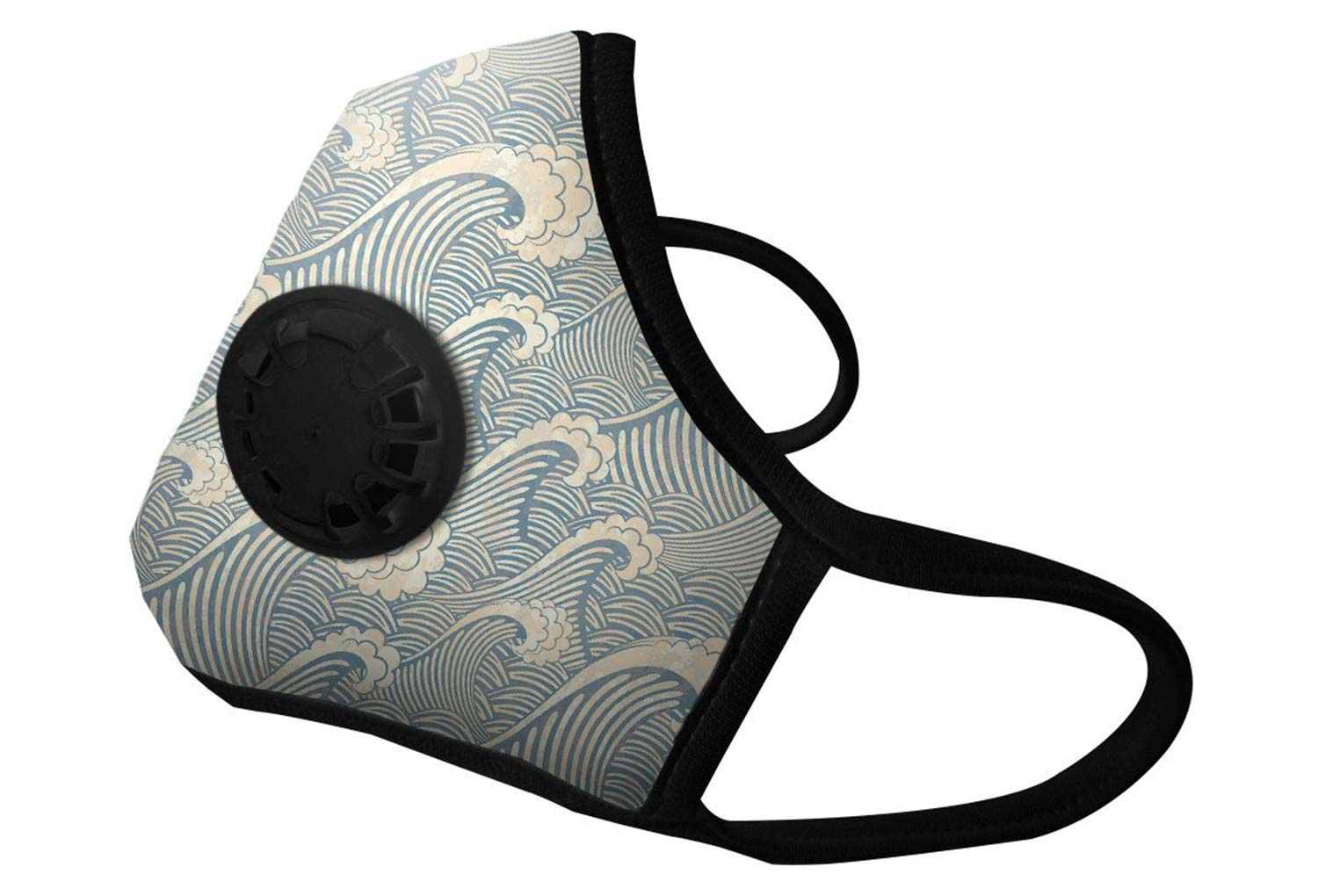 masque anti pollution vogmask n99cv waves bleu. Black Bedroom Furniture Sets. Home Design Ideas