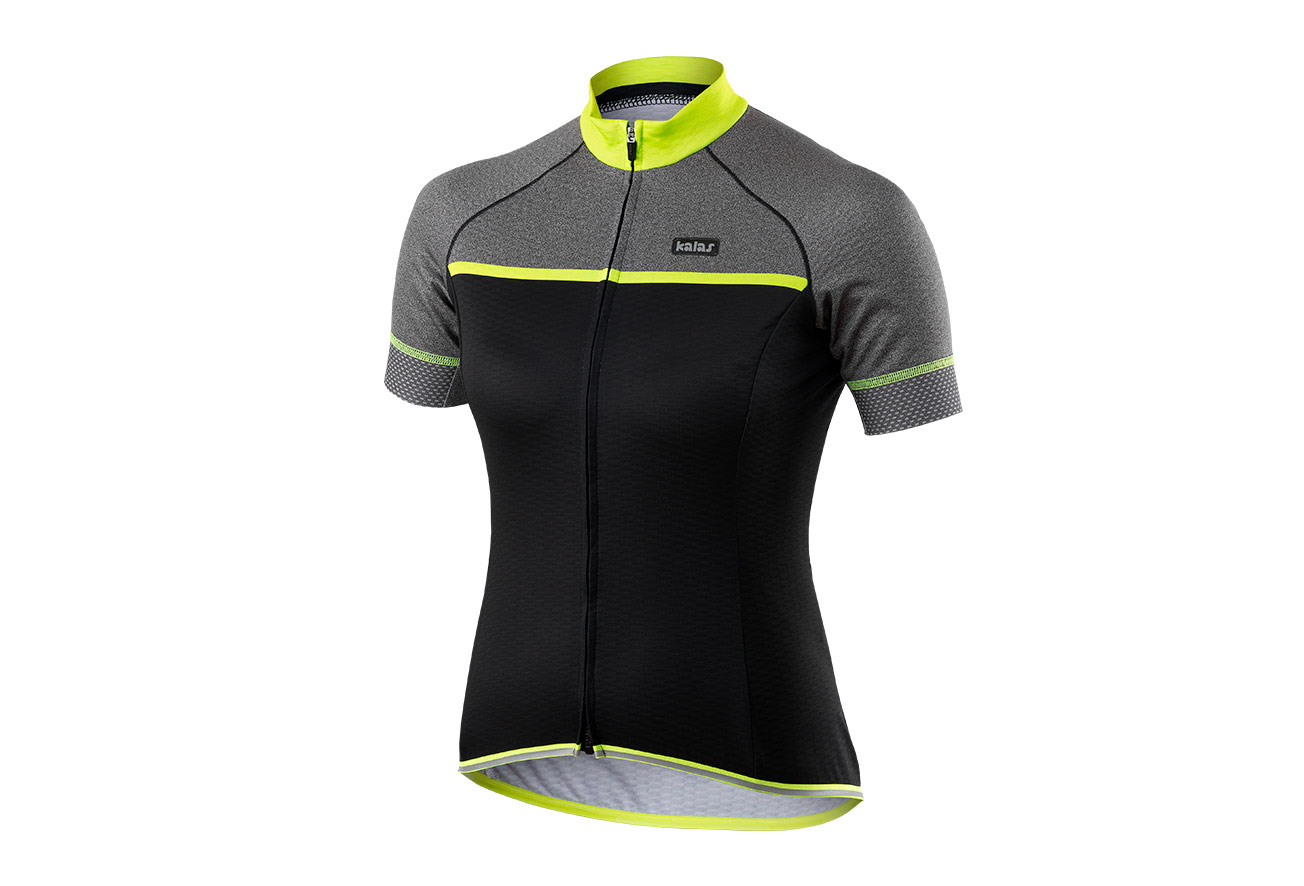a90817ac4 Kalas Passion x7 Women Short Sleeve Jersey - Black Grey Neon yellow ...
