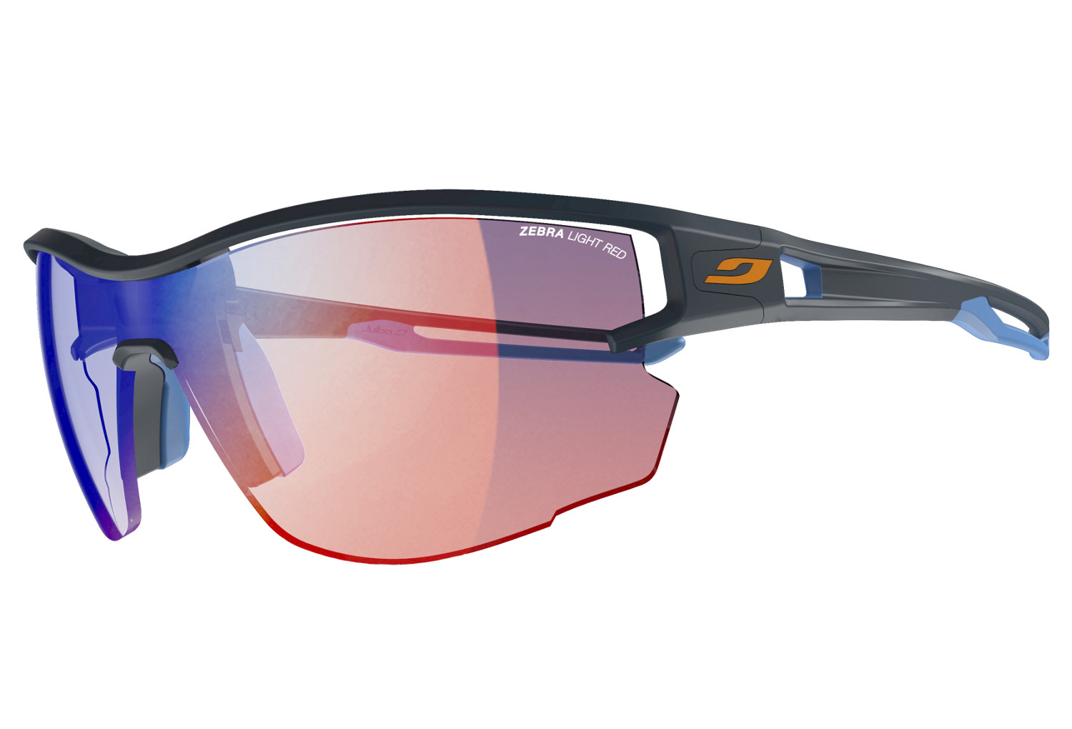 82c97791b2 Lunettes Julbo Aero Zebra Light Bleu - Rouge Transparent | Alltricks.fr
