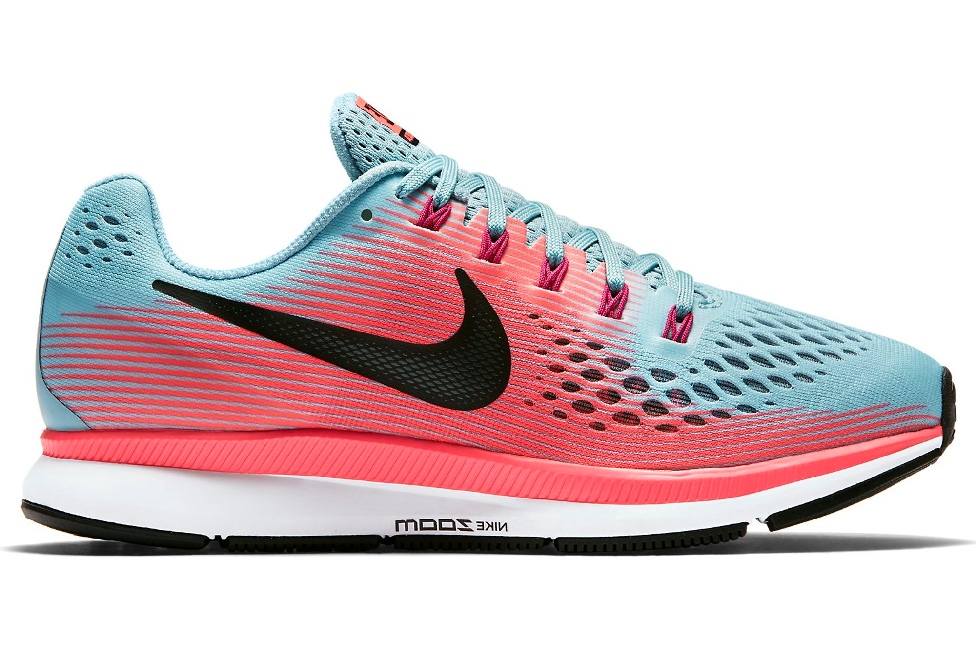 reputable site 4400e 79ee5 Chaussures de Running Femme Nike Air Zoom Pegasus 34 Bleu   Rose
