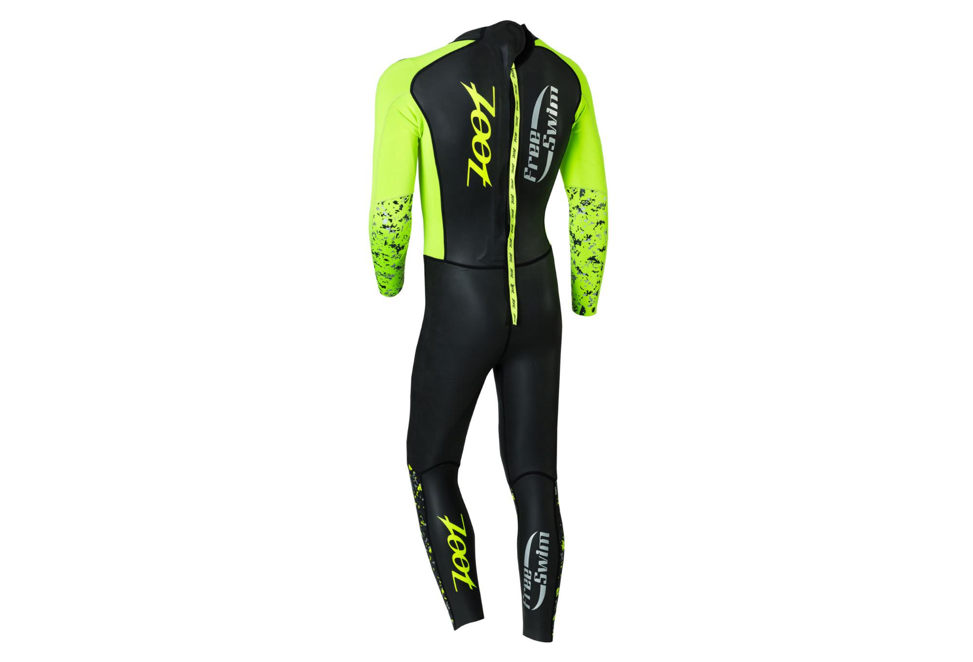 68157bee8d0b Zoot Wave Free Swim Wetsuit Black Yellow