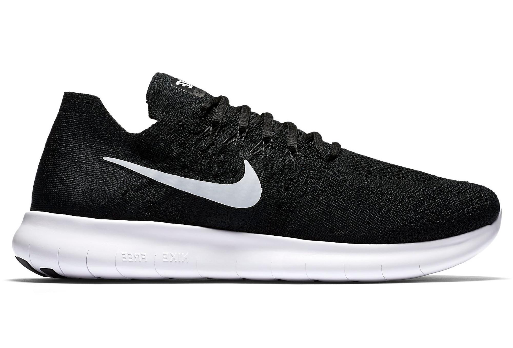 new product a28cc 25f8e Nike Free Run Flyknit Shoe Black White Men