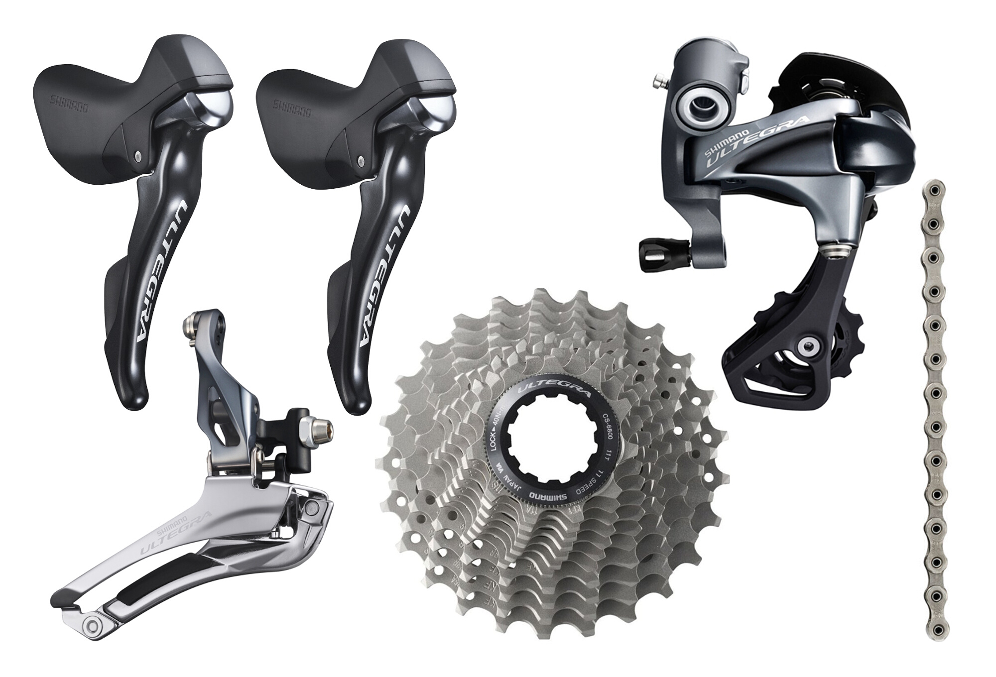 d0bf20e1d9d Shimano Ultegra Mini Groupset (without crankset) 11s Black | Alltricks.fr