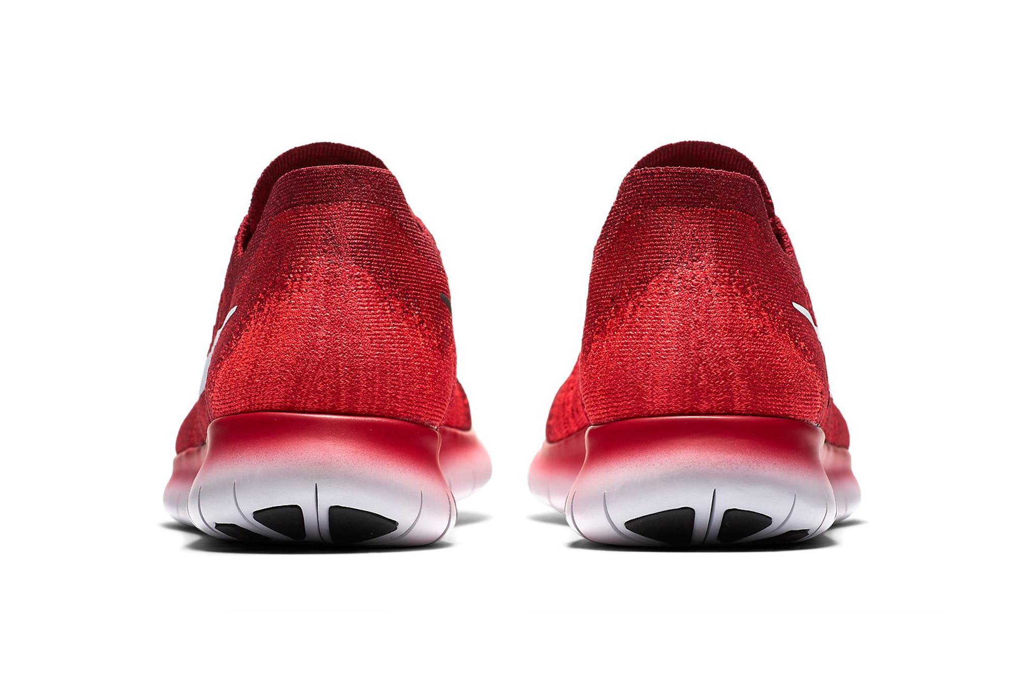 Nike Free Run Flyknit Schuh Rot Weiß Herren